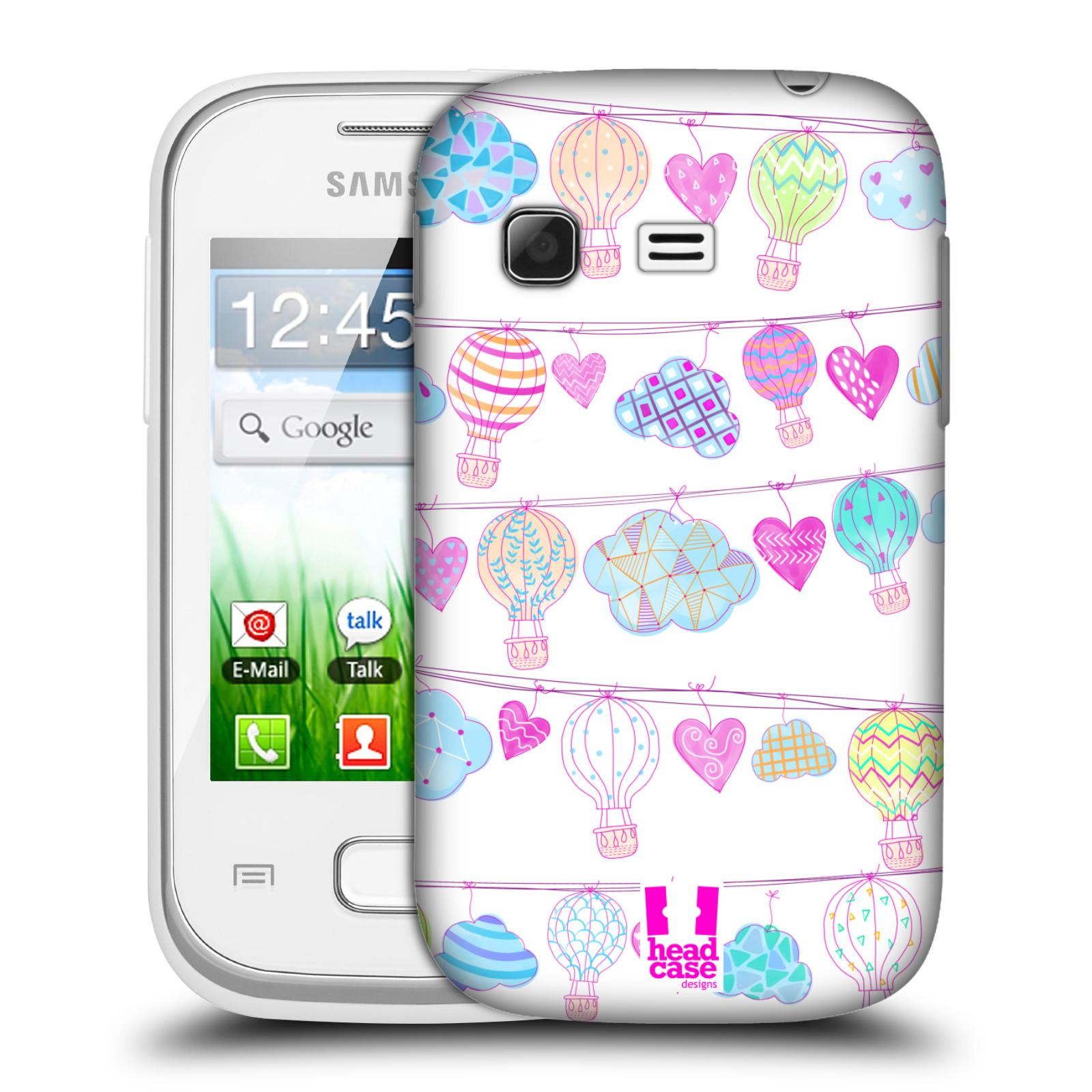 Plastové pouzdro na mobil Samsung Galaxy Pocket HEAD CASE Balóny a srdíčka (Plastový kryt či obal na mobilní telefon Samsung Galaxy Pocket GT-S5300)