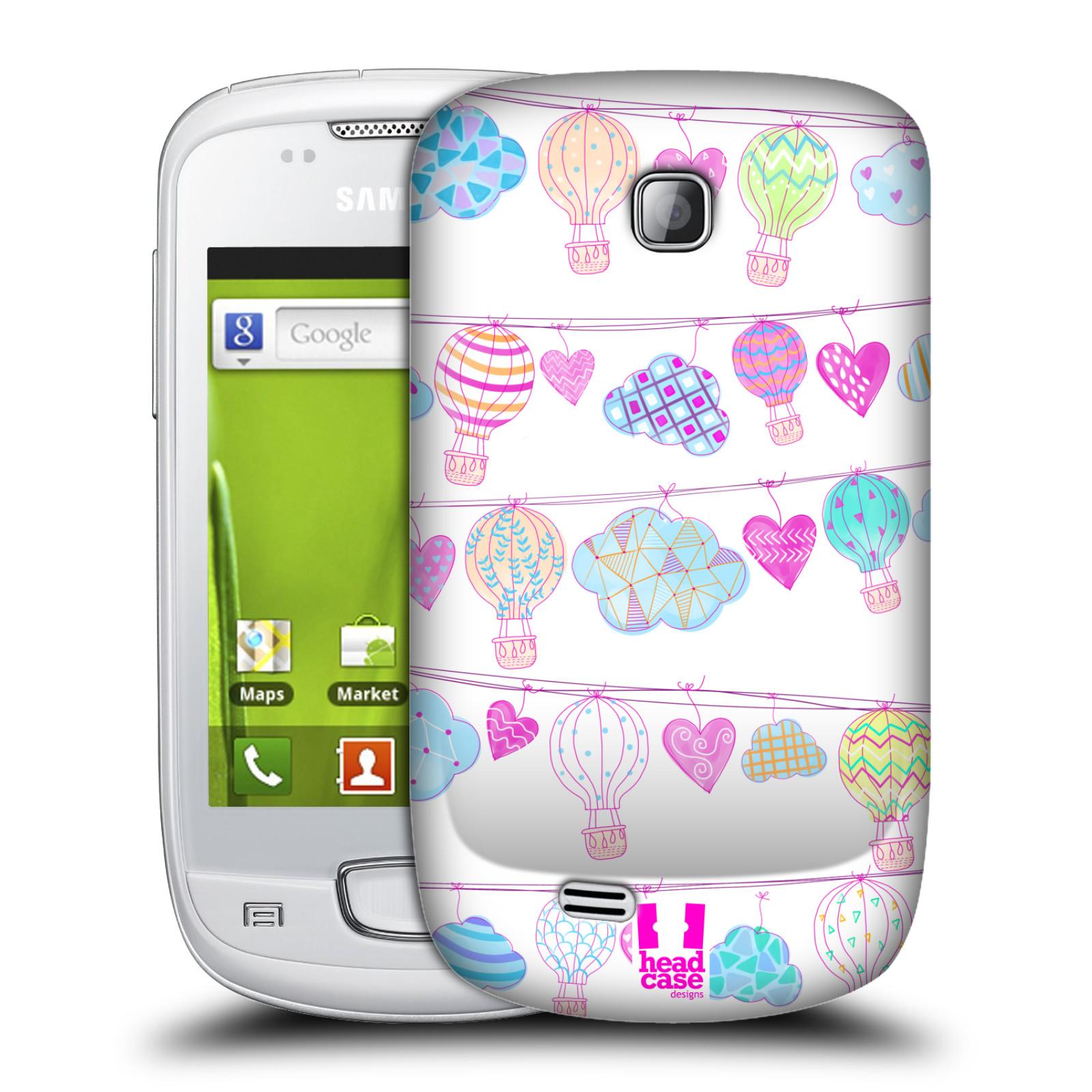 Plastové pouzdro na mobil Samsung Galaxy Mini HEAD CASE Balóny a srdíčka (Plastový kryt či obal na mobilní telefon Samsung Galaxy Mini GT-S5570 / GT-S5570i)
