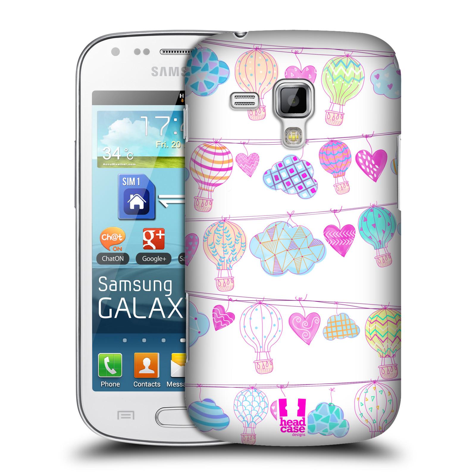 Plastové pouzdro na mobil Samsung Galaxy Trend Plus HEAD CASE Balóny a srdíčka (Plastový kryt či obal na mobilní telefon Samsung Galaxy Trend Plus GT-S7580)