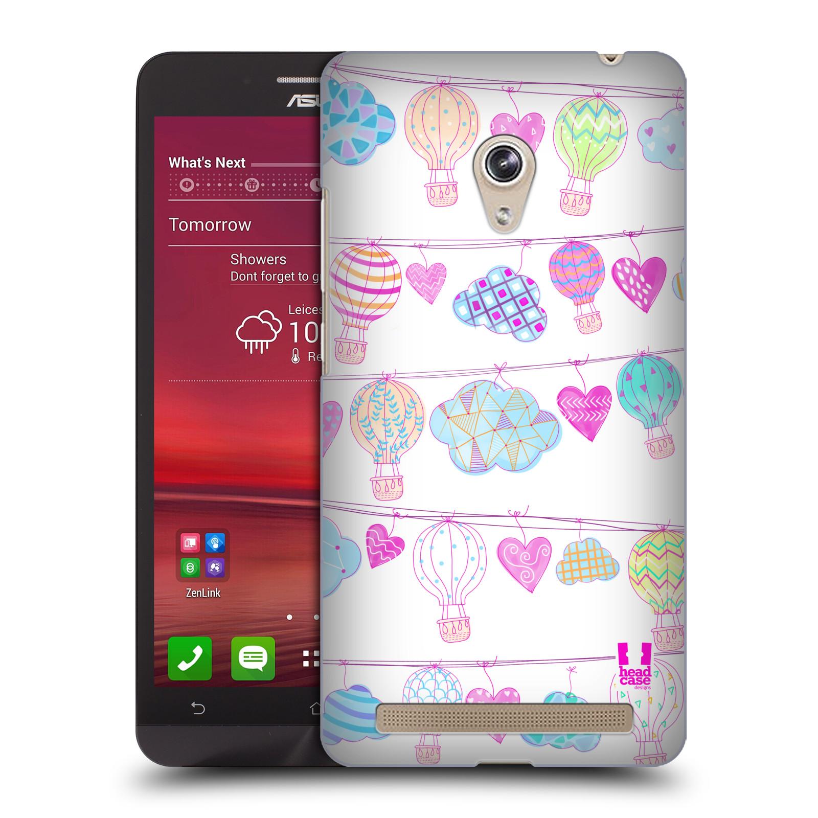 Plastové pouzdro na mobil Asus Zenfone 6 HEAD CASE Balóny a srdíčka (Plastový kryt či obal na mobilní telefon Asus Zenfone 6 A600CG / A601CG)
