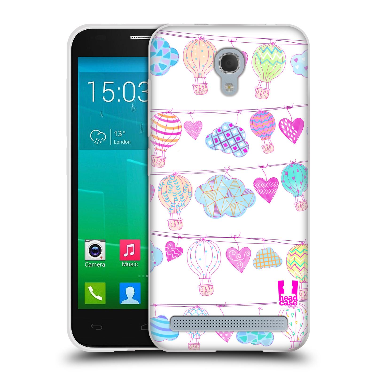 Silikonové pouzdro na mobil Alcatel One Touch Idol 2 Mini S 6036Y HEAD CASE Balóny a srdíčka (Silikonový kryt či obal na mobilní telefon Alcatel Idol 2 Mini S OT-6036Y)