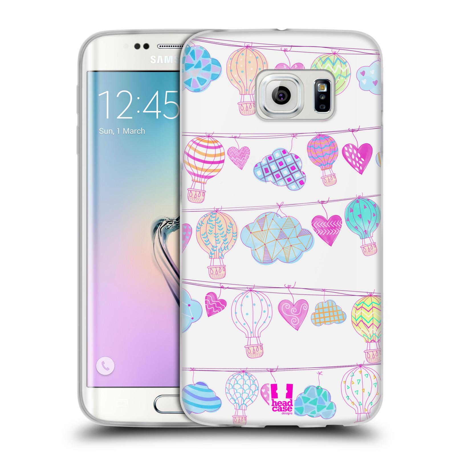 Silikonové pouzdro na mobil Samsung Galaxy S6 Edge HEAD CASE Balóny a srdíčka (Silikonový kryt či obal na mobilní telefon Samsung Galaxy S6 Edge SM-G925F)