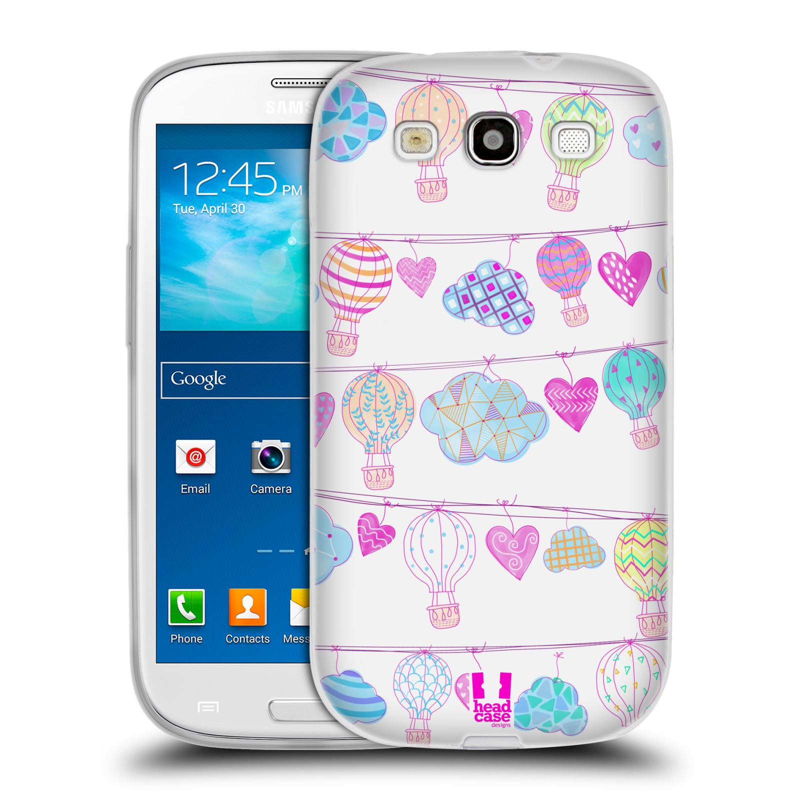 Silikonové pouzdro na mobil Samsung Galaxy S3 Neo HEAD CASE Balóny a srdíčka (Silikonový kryt či obal na mobilní telefon Samsung Galaxy S3 Neo GT-i9301i)