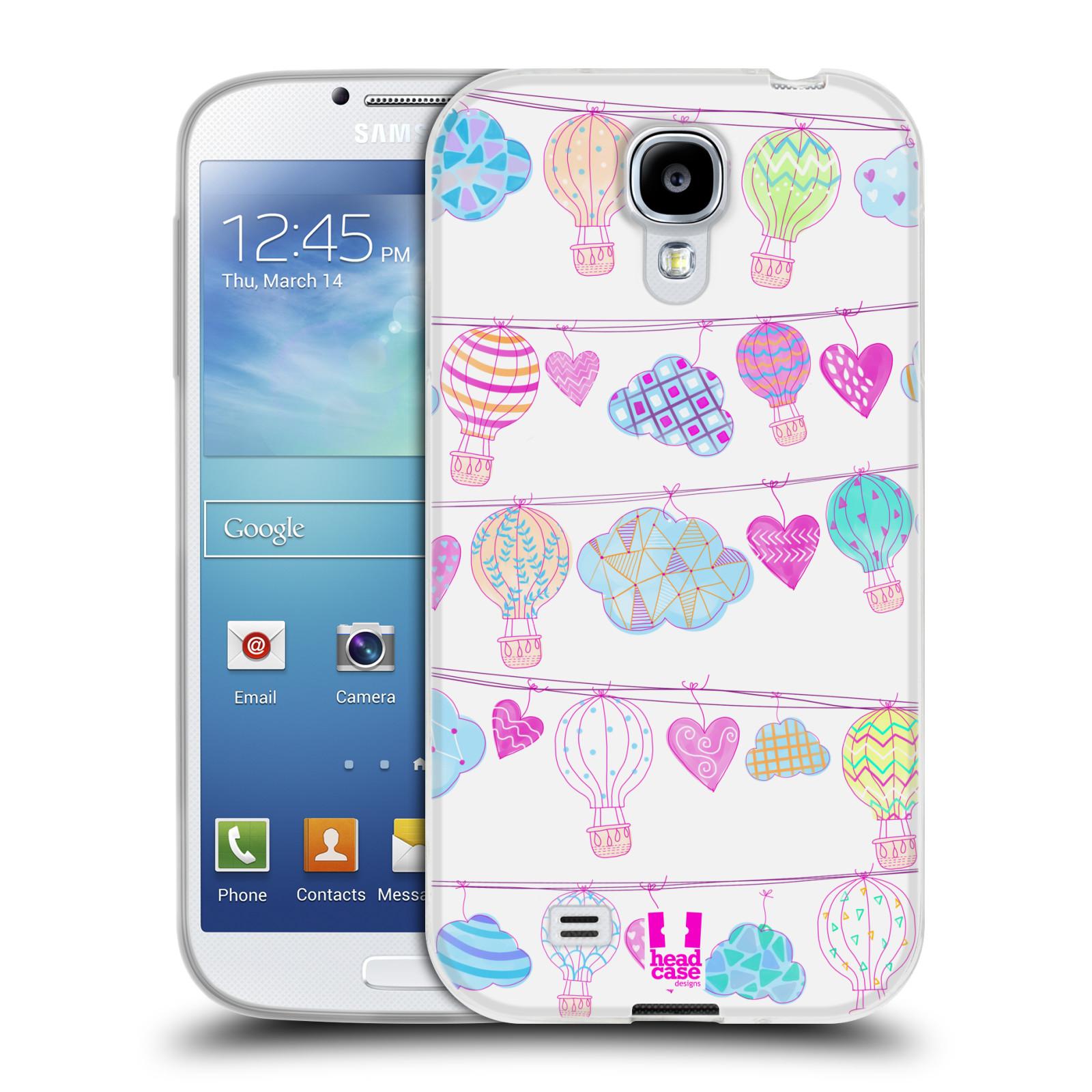 Silikonové pouzdro na mobil Samsung Galaxy S4 HEAD CASE Balóny a srdíčka (Silikonový kryt či obal na mobilní telefon Samsung Galaxy S4 GT-i9505 / i9500)