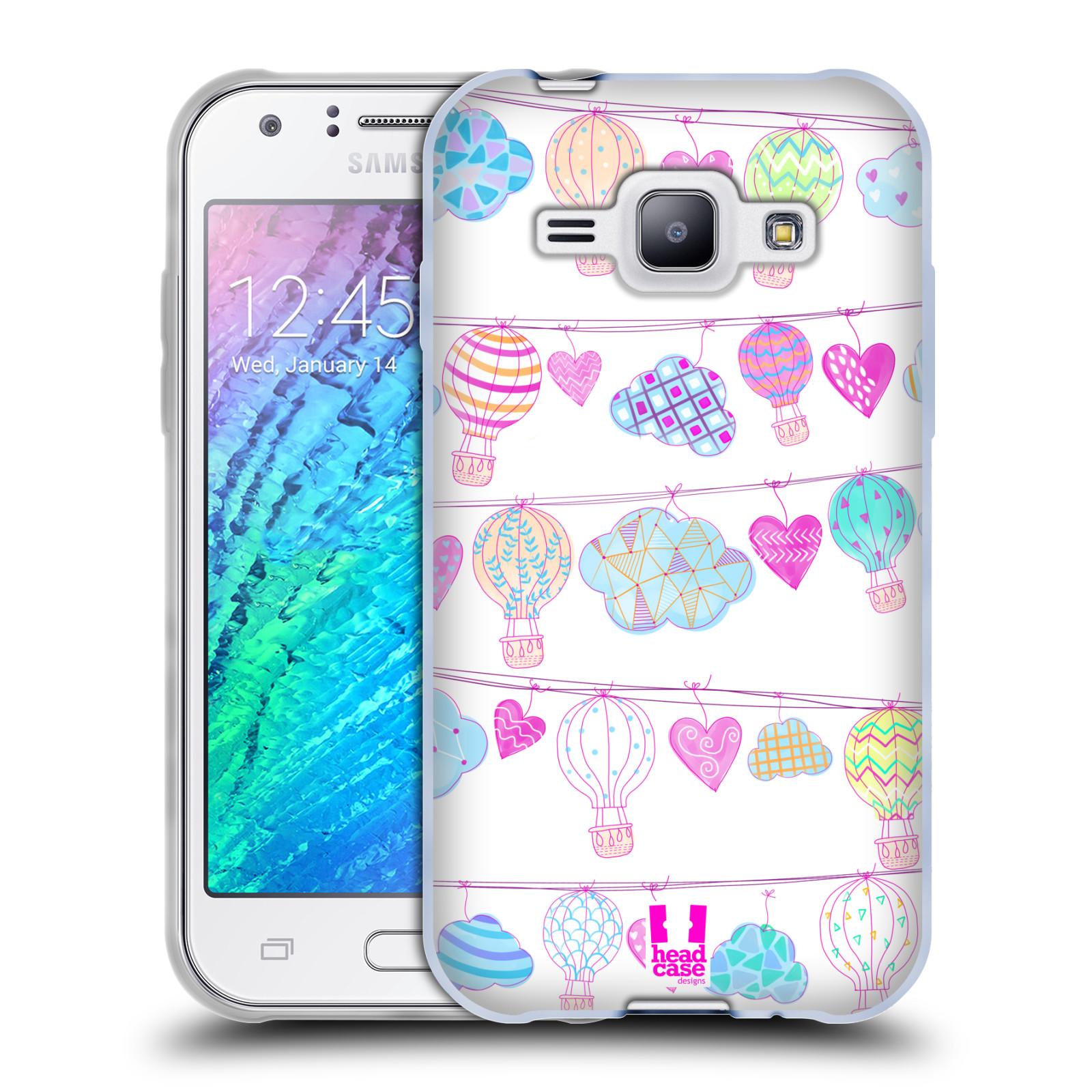Silikonové pouzdro na mobil Samsung Galaxy J1 HEAD CASE Balóny a srdíčka (Silikonový kryt či obal na mobilní telefon Samsung Galaxy J1 a J1 Duos)