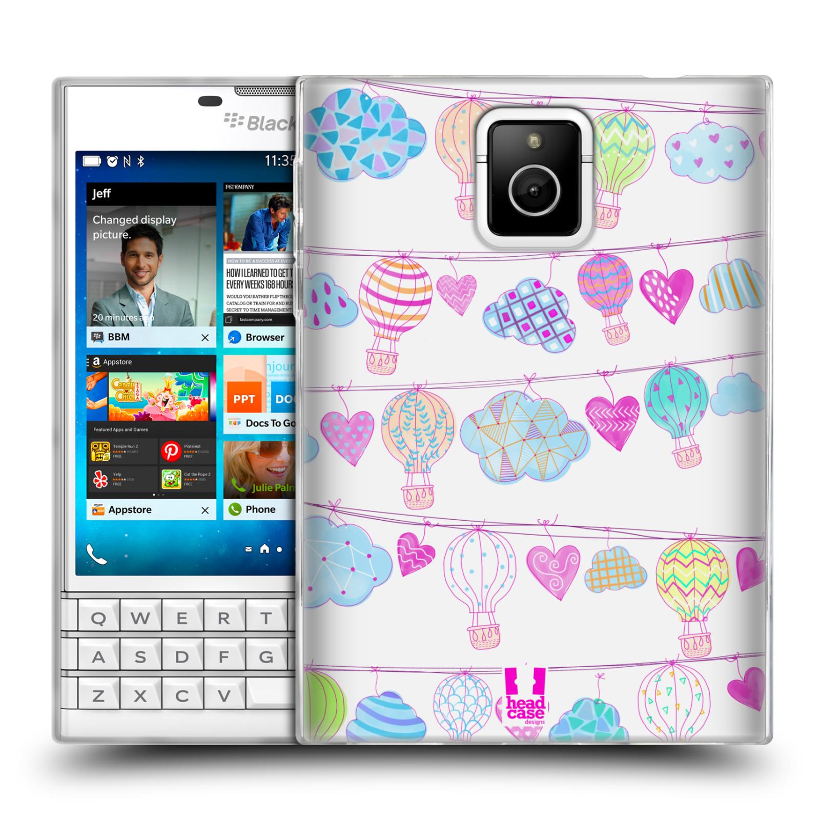 Silikonové pouzdro na mobil Blackberry PASSPORT HEAD CASE Balóny a srdíčka (Silikonový kryt či obal na mobilní telefon Blackberry PASSPORT)