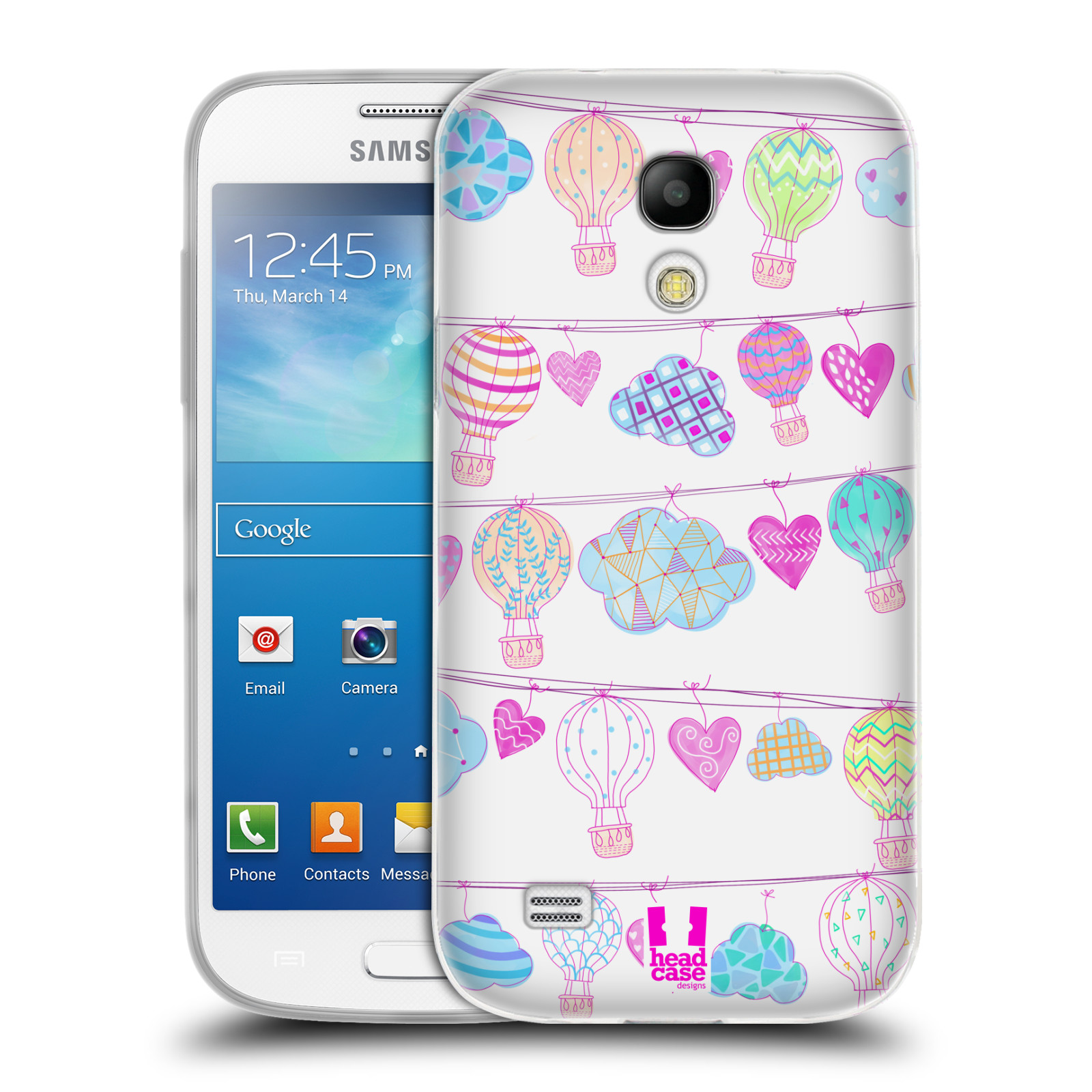 Silikonové pouzdro na mobil Samsung Galaxy S4 Mini HEAD CASE Balóny a srdíčka (Silikonový kryt či obal na mobilní telefon Samsung Galaxy S4 Mini GT-i9195 / i9190)
