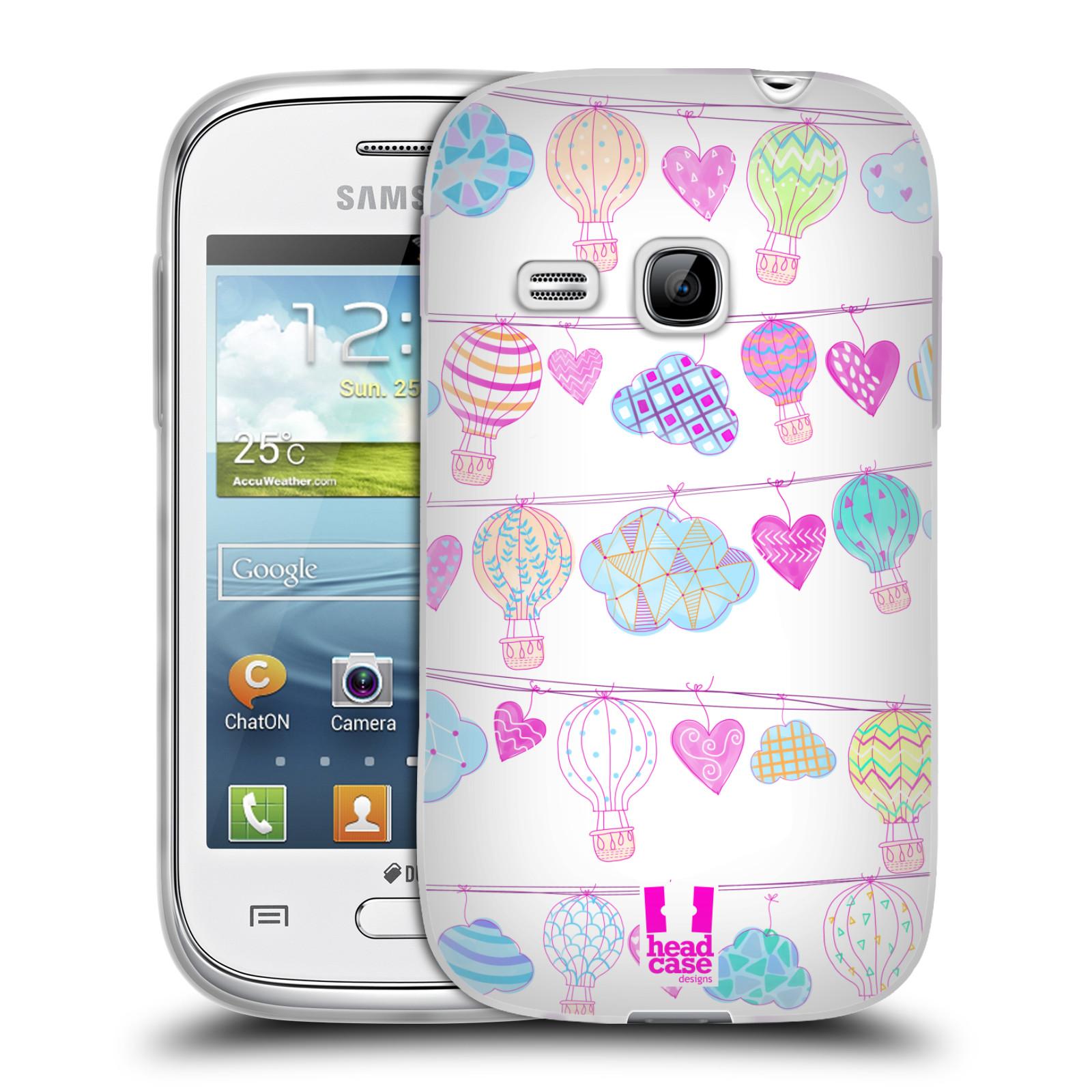 Silikonové pouzdro na mobil Samsung Galaxy Young HEAD CASE Balóny a srdíčka (Silikonový kryt či obal na mobilní telefon Samsung Galaxy Young GT-S6310)