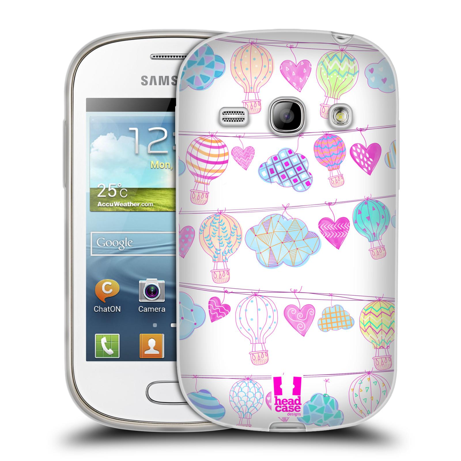 Silikonové pouzdro na mobil Samsung Galaxy Fame HEAD CASE Balóny a srdíčka (Silikonový kryt či obal na mobilní telefon Samsung Galaxy Fame GT-S6810)