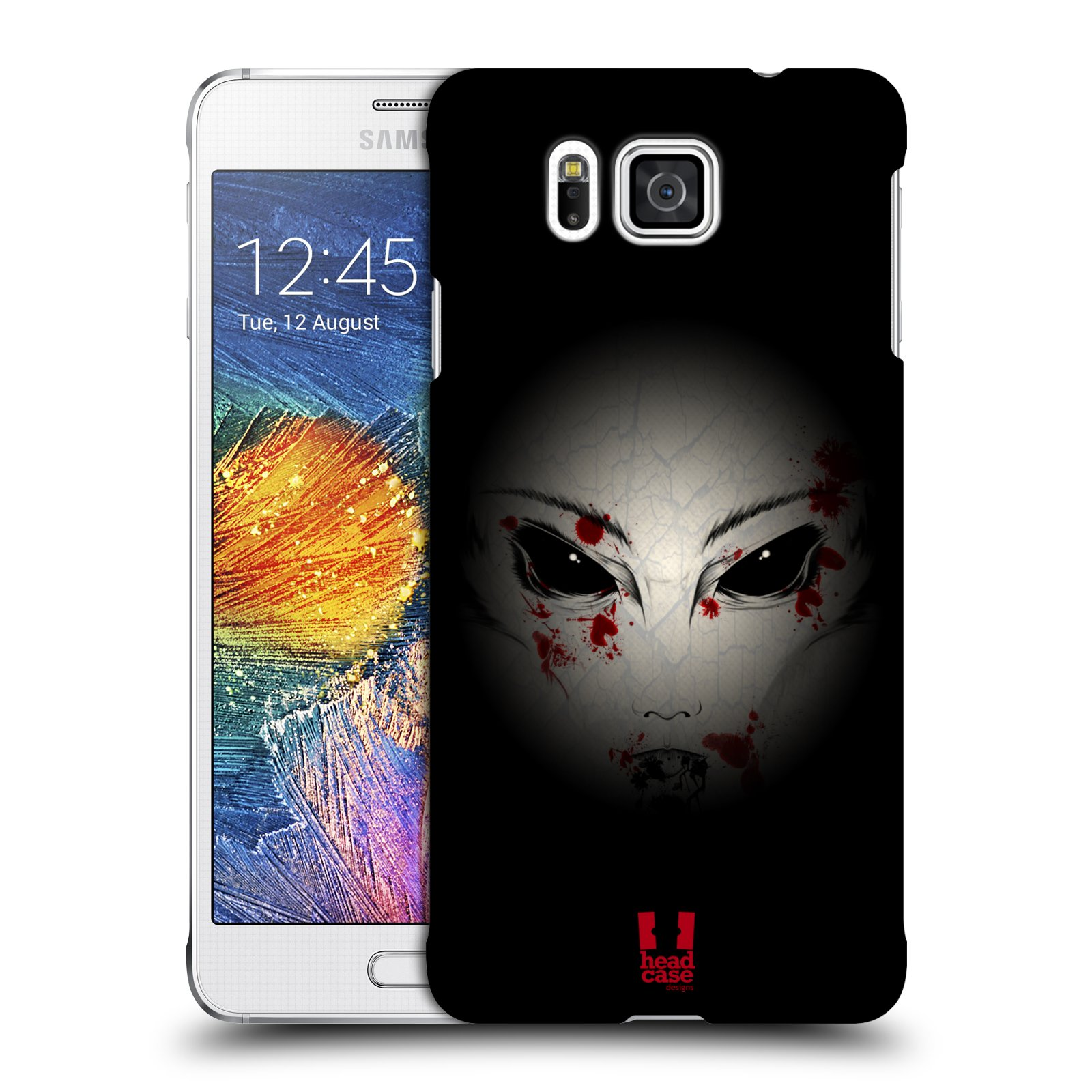 Plastové pouzdro na mobil Samsung Galaxy Alpha HEAD CASE Macabre