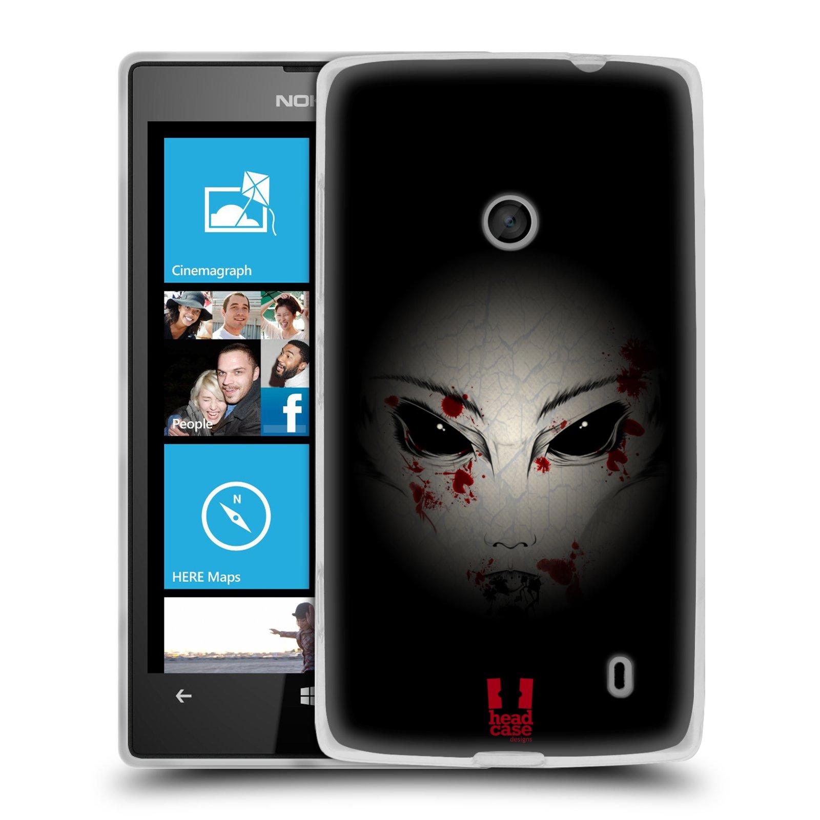 Silikonové pouzdro na mobil Nokia Lumia 520 HEAD CASE Macabre (Silikonový Kryt či obal na mobilní telefon Nokia Lumia 520)
