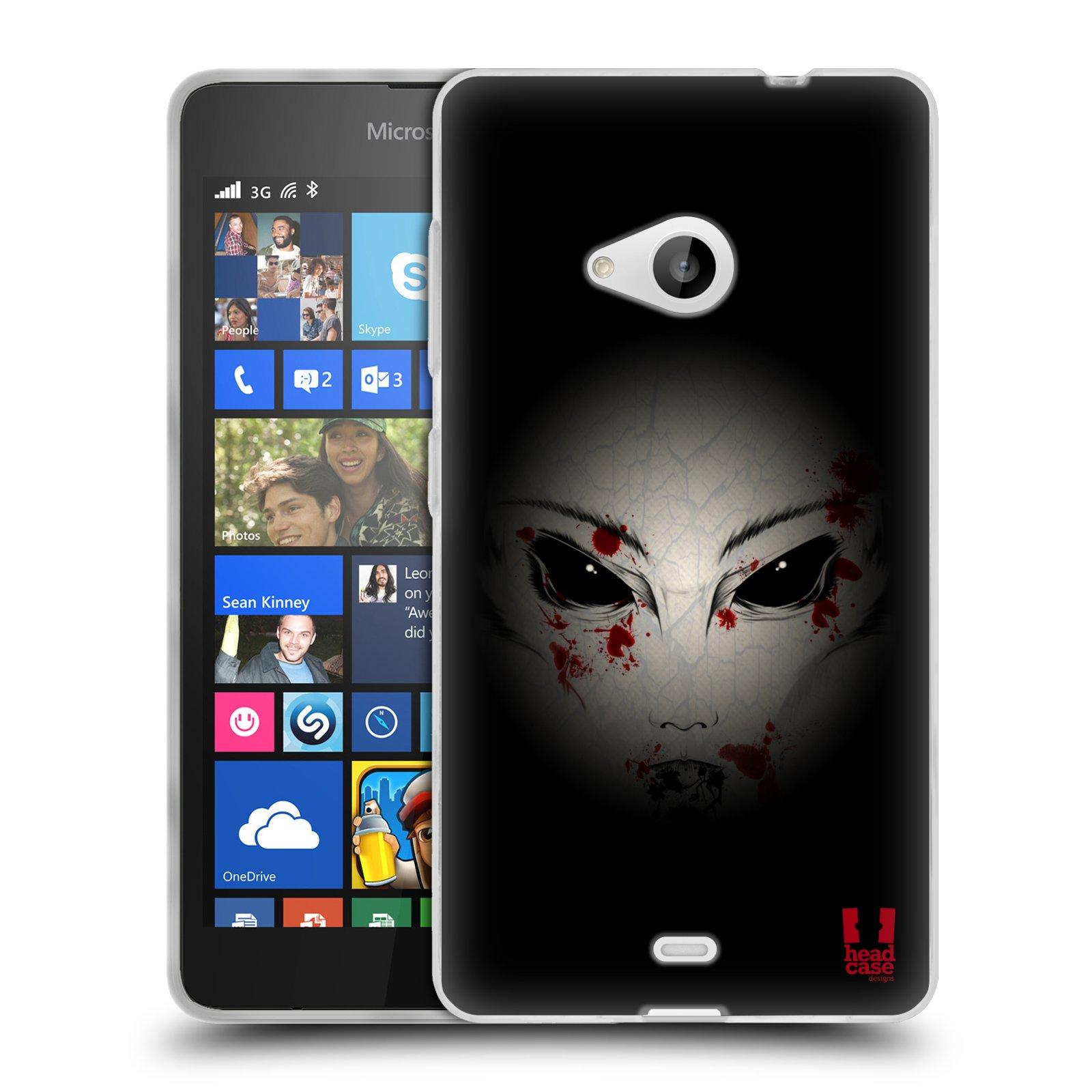 Silikonové pouzdro na mobil Microsoft Lumia 535 HEAD CASE Macabre (Silikonový kryt či obal na mobilní telefon Microsoft Lumia 535)