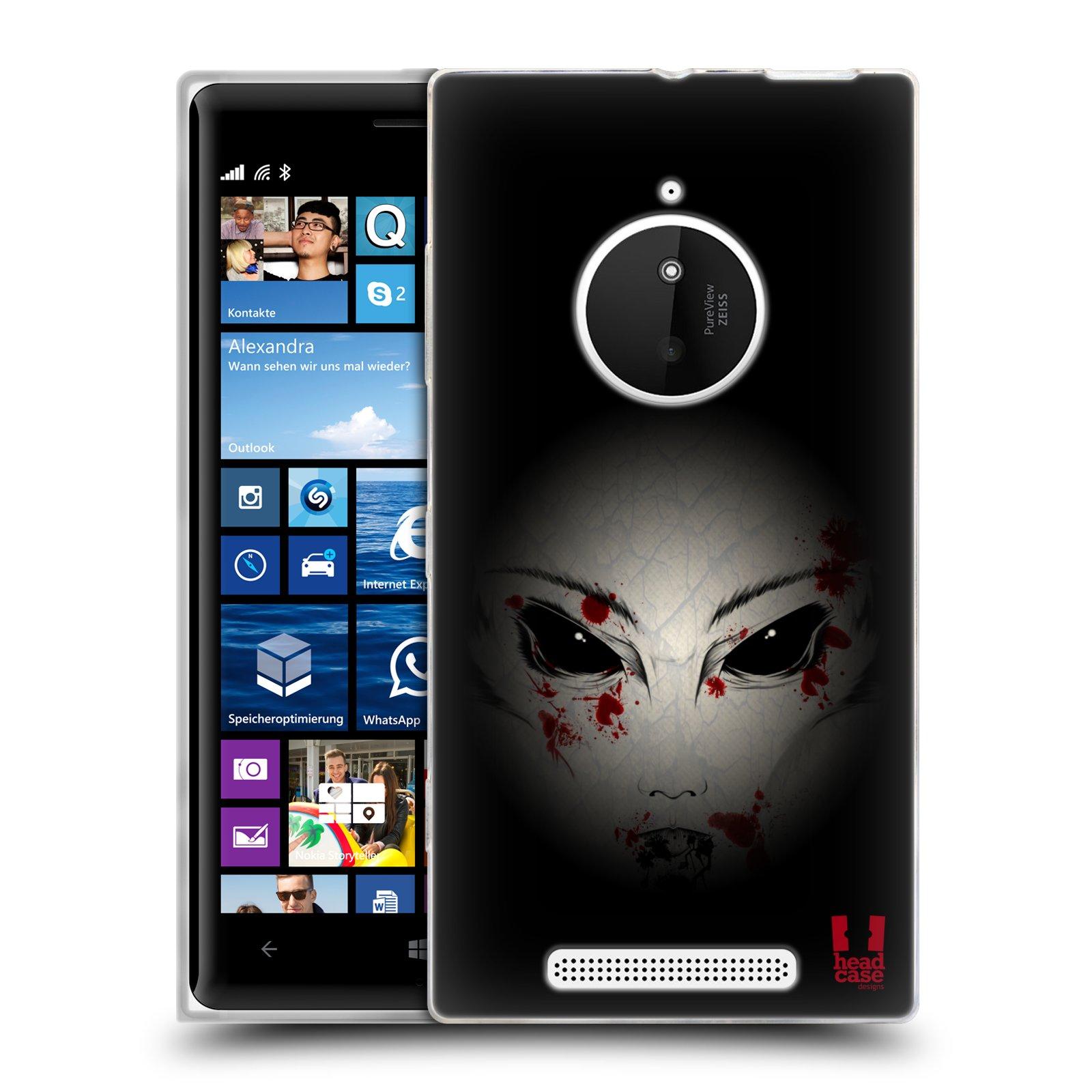 Silikonové pouzdro na mobil Nokia Lumia 830 HEAD CASE Macabre (Silikonový kryt či obal na mobilní telefon Nokia Lumia 830)