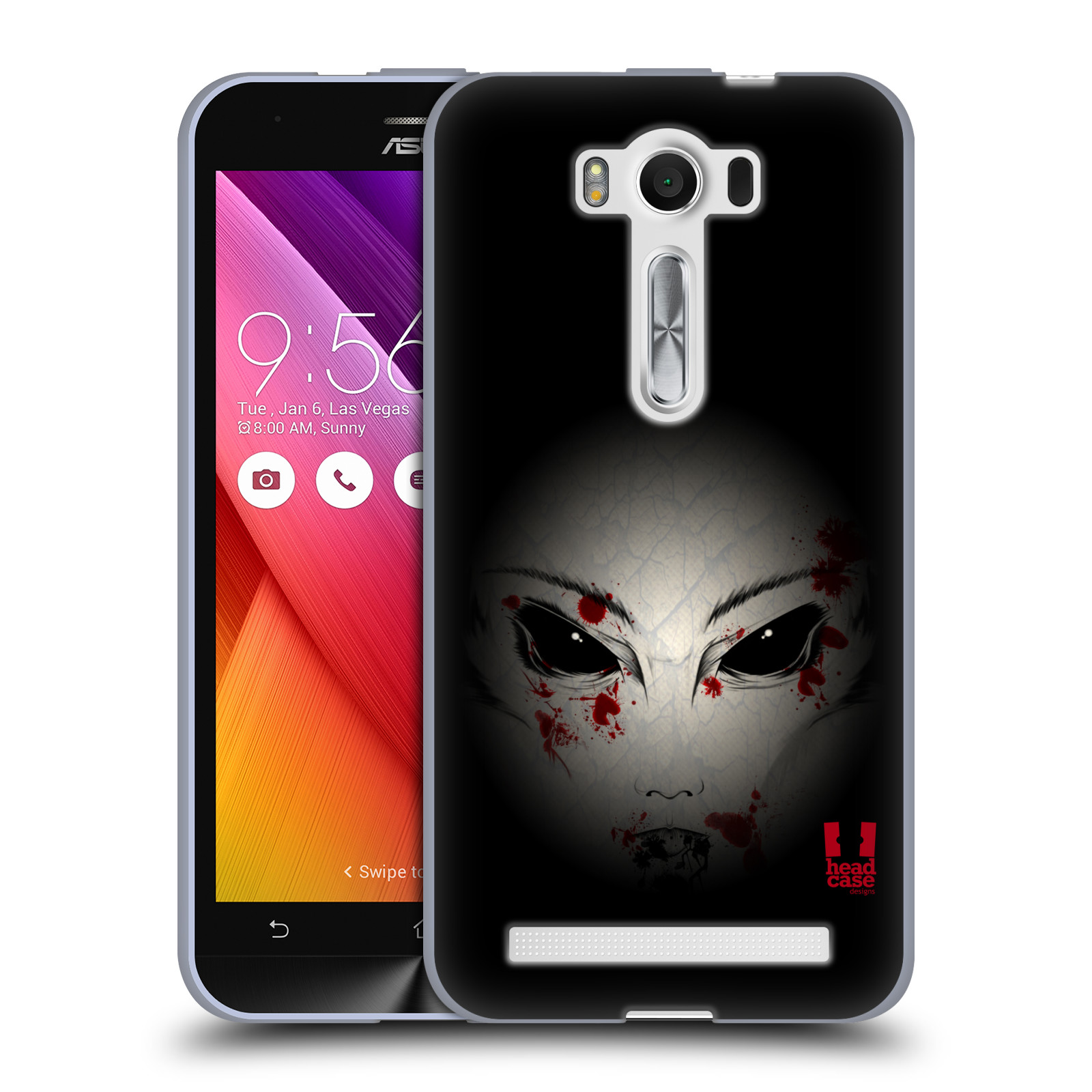 "Silikonové pouzdro na mobil Asus ZenFone 2 Laser ZE500KL HEAD CASE Macabre (Silikonový kryt či obal na mobilní telefon Asus ZenFone 2 Laser ZE500KL s 5"" displejem)"