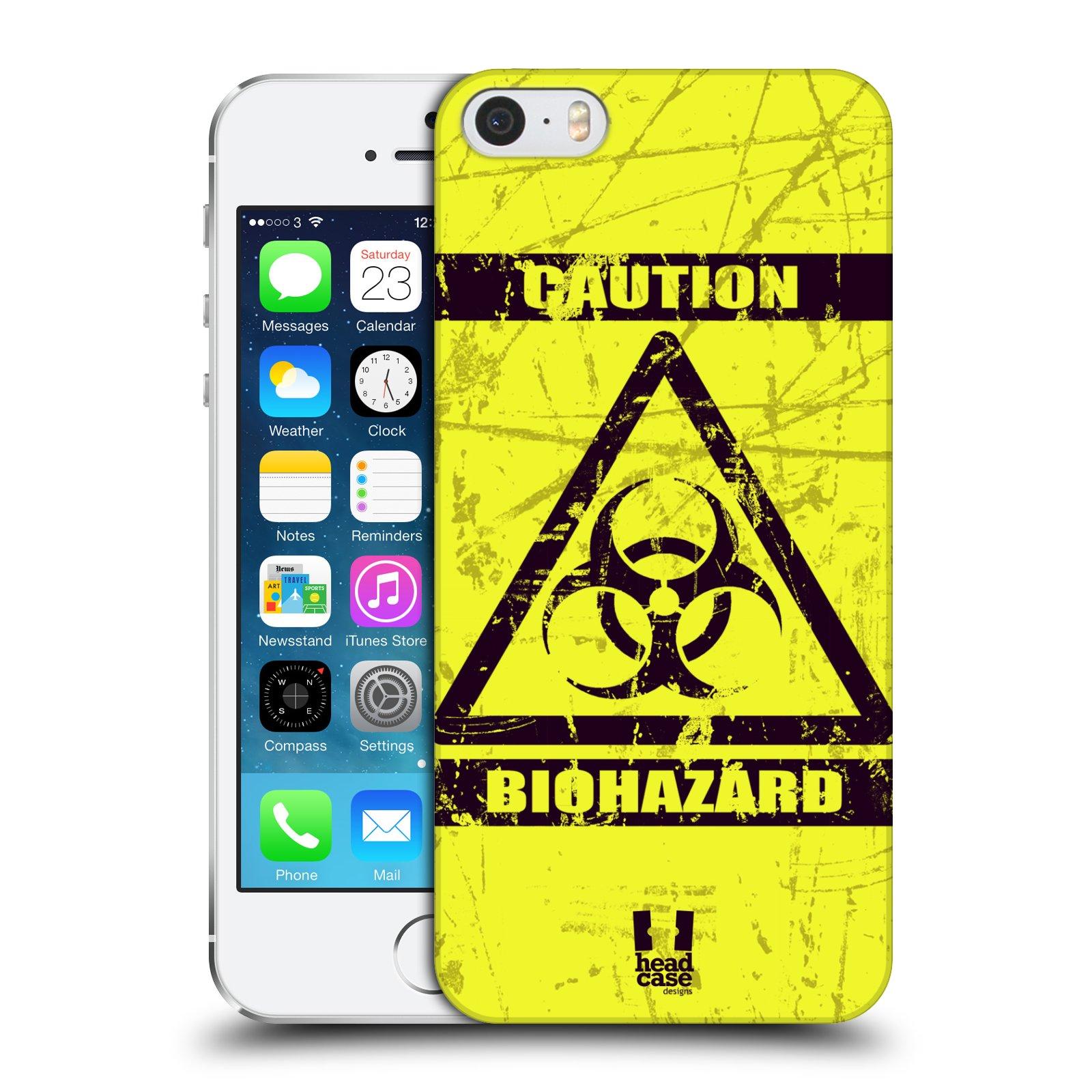 Plastové pouzdro na mobil Apple iPhone SE, 5 a 5S HEAD CASE BIOHAZARD