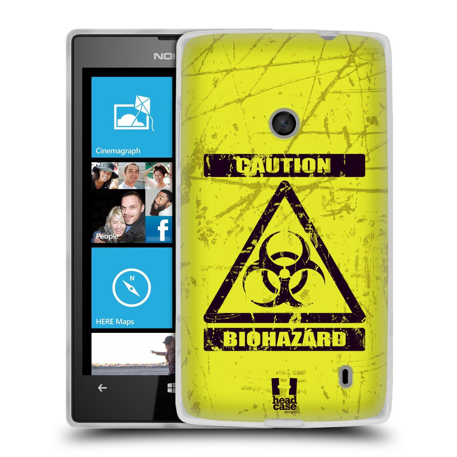 Silikonové pouzdro na mobil Nokia Lumia 520 HEAD CASE BIOHAZARD (Silikonový Kryt či obal na mobilní telefon Nokia Lumia 520)
