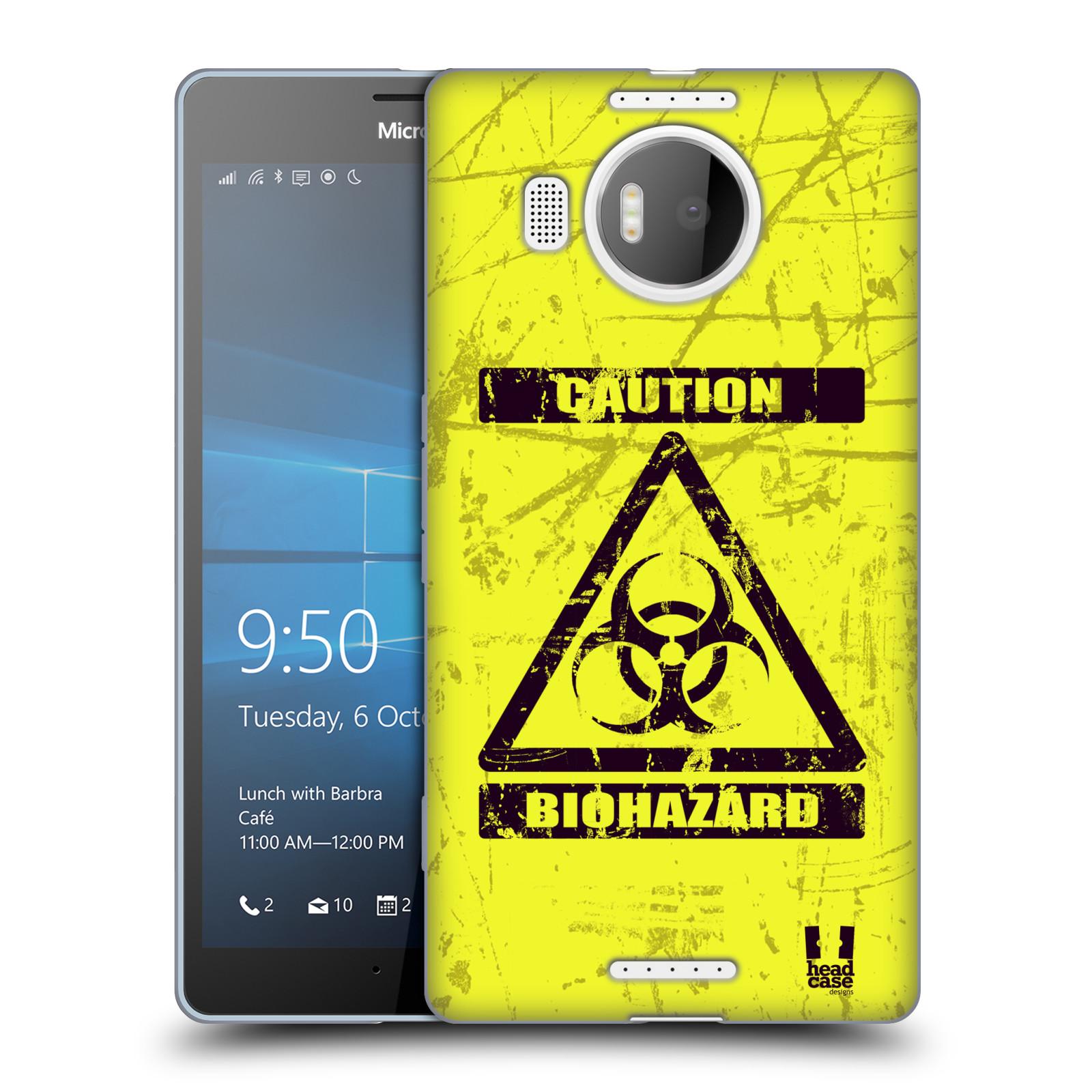 Silikonové pouzdro na mobil Microsoft Lumia 950 XL HEAD CASE BIOHAZARD