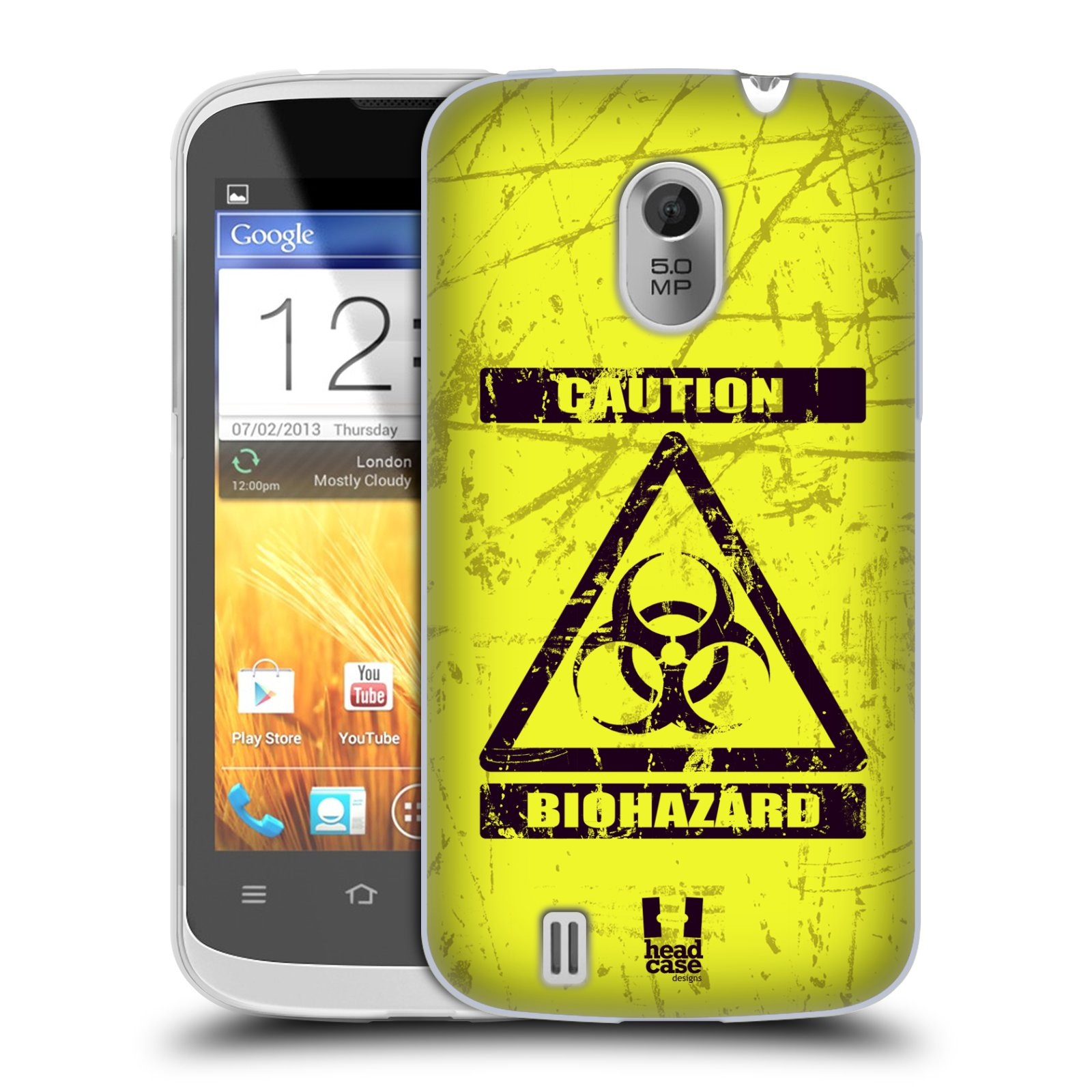 Silikonové pouzdro na mobil ZTE Blade III HEAD CASE BIOHAZARD (Silikonový kryt či obal na mobilní telefon ZTE Blade 3)