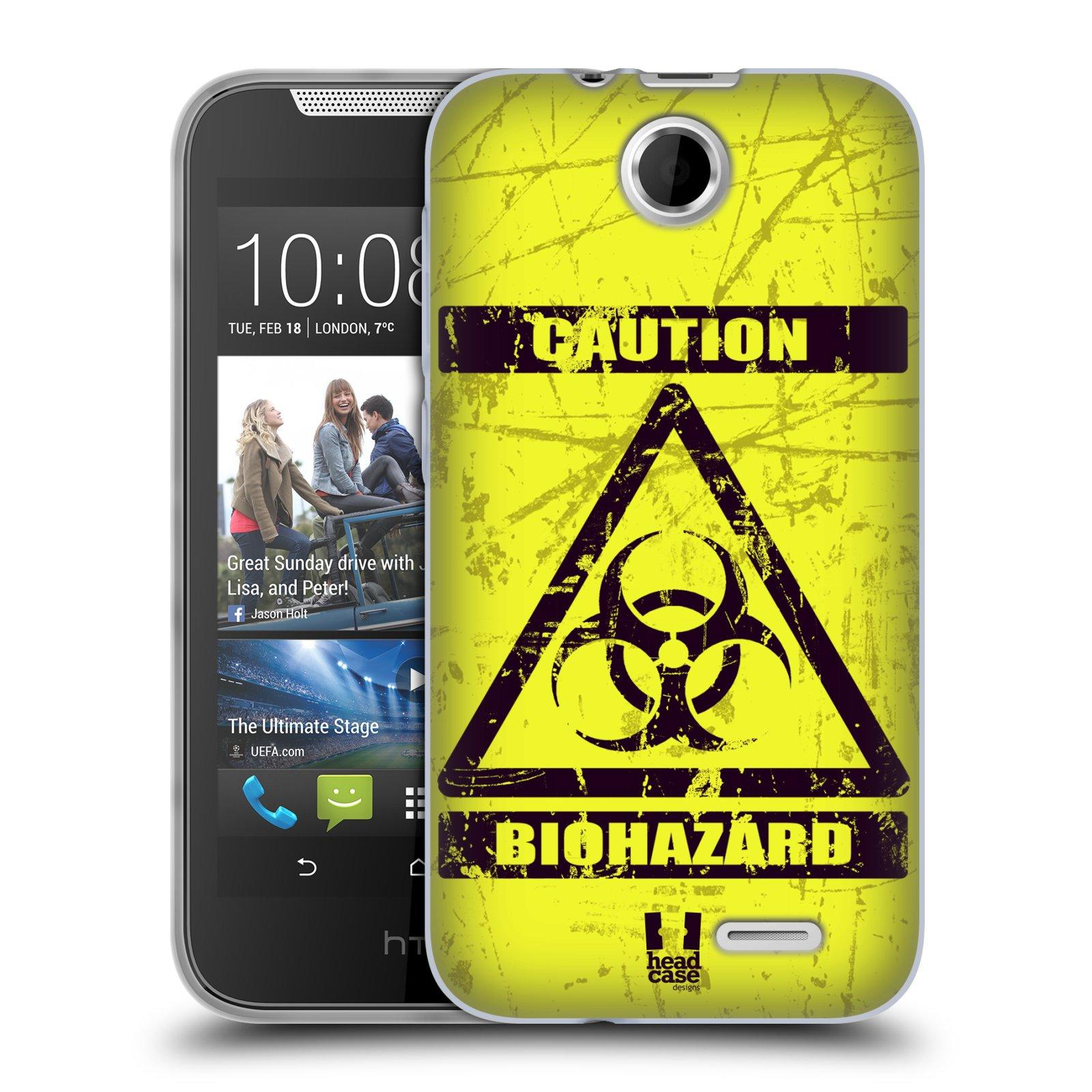 Silikonové pouzdro na mobil HTC Desire 310 HEAD CASE BIOHAZARD (Silikonový kryt či obal na mobilní telefon HTC Desire 310)