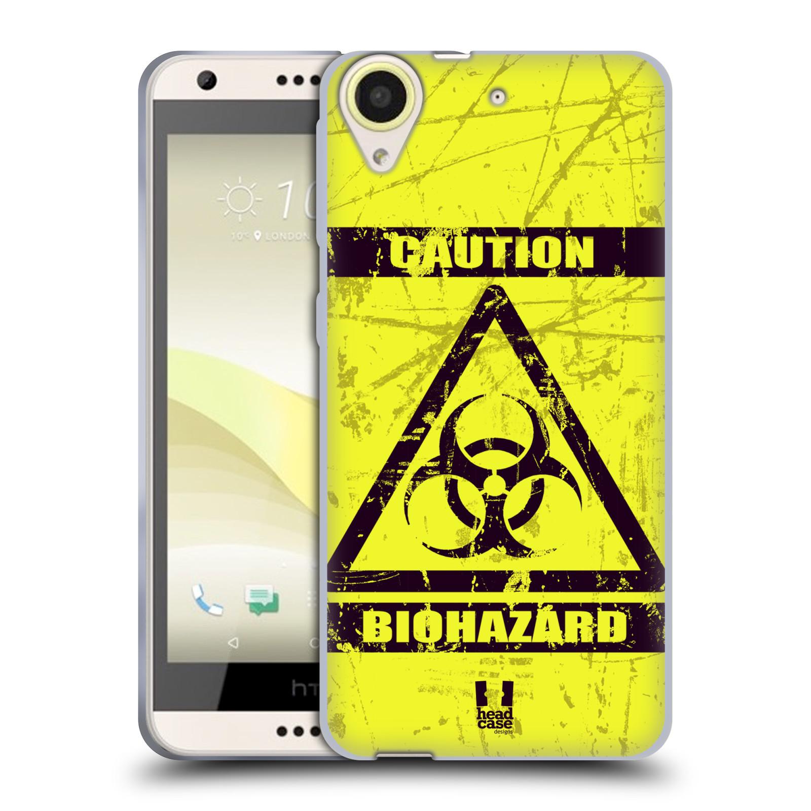Silikonové pouzdro na mobil HTC Desire 650 HEAD CASE BIOHAZARD (Silikonový kryt či obal na mobilní telefon HTC Desire 650)