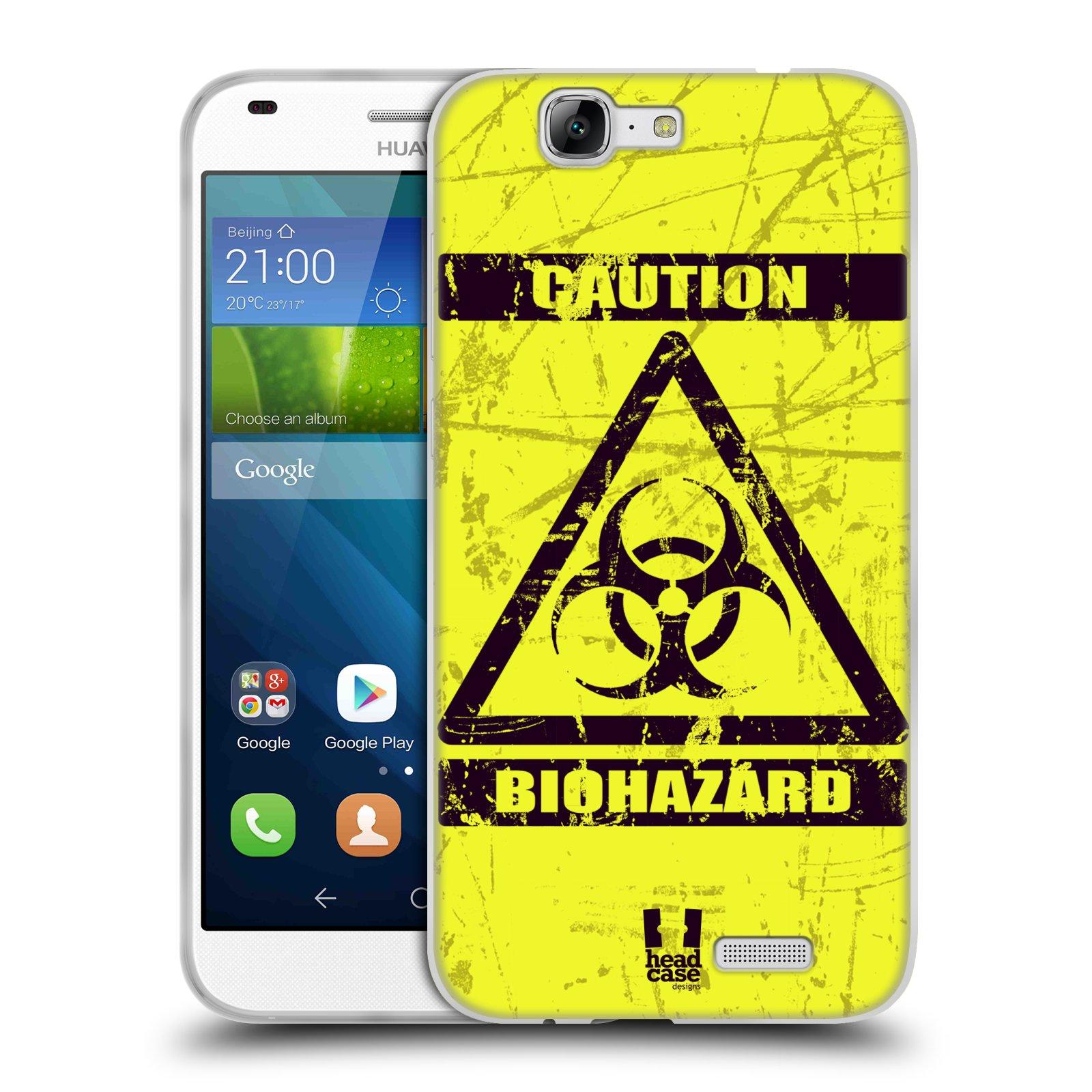 Silikonové pouzdro na mobil Huawei Ascend G7 HEAD CASE BIOHAZARD (Silikonový kryt či obal na mobilní telefon Huawei Ascend G7)