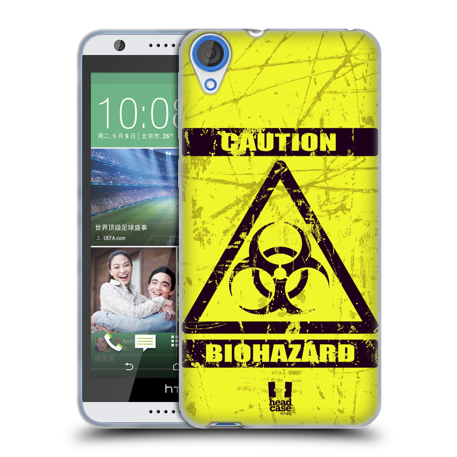 Silikonové pouzdro na mobil HTC Desire 820 HEAD CASE BIOHAZARD (Silikonový kryt či obal na mobilní telefon HTC Desire 820)
