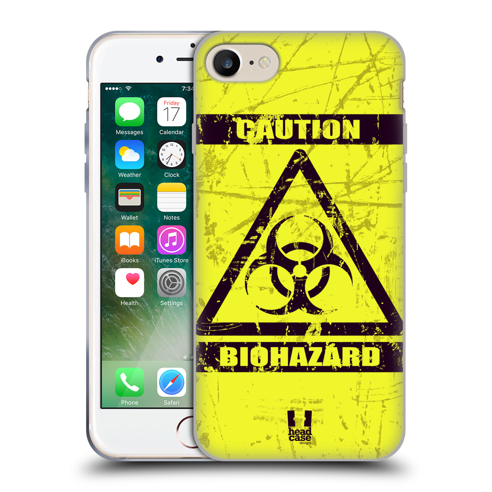 Silikonové pouzdro na mobil Apple iPhone 7 HEAD CASE BIOHAZARD