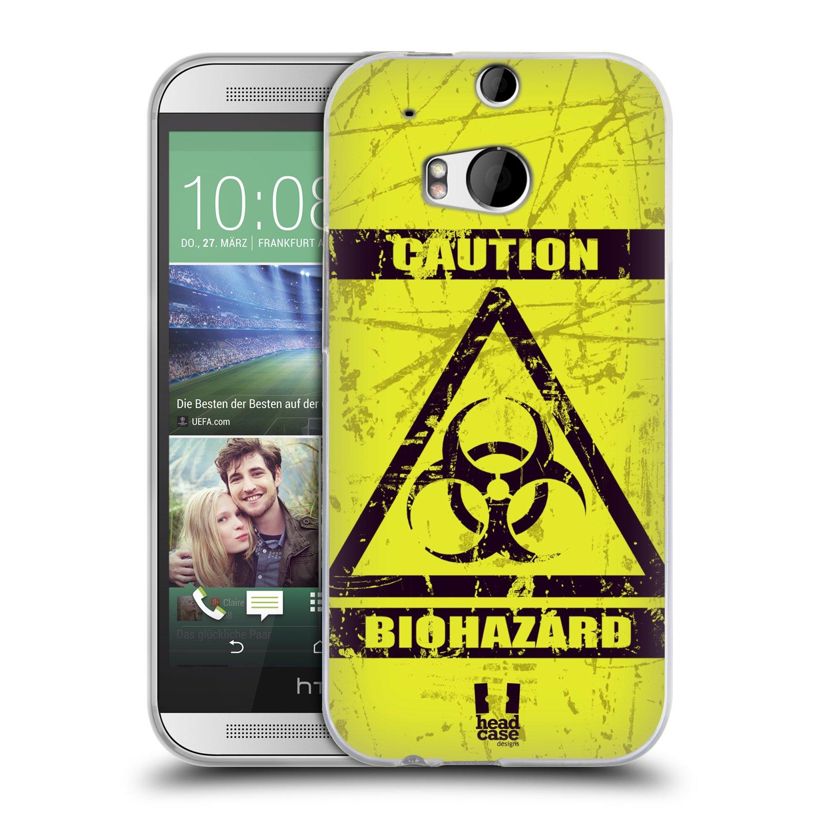 Silikonové pouzdro na mobil HTC ONE M8 HEAD CASE BIOHAZARD (Silikonový kryt či obal na mobilní telefon HTC ONE M8)