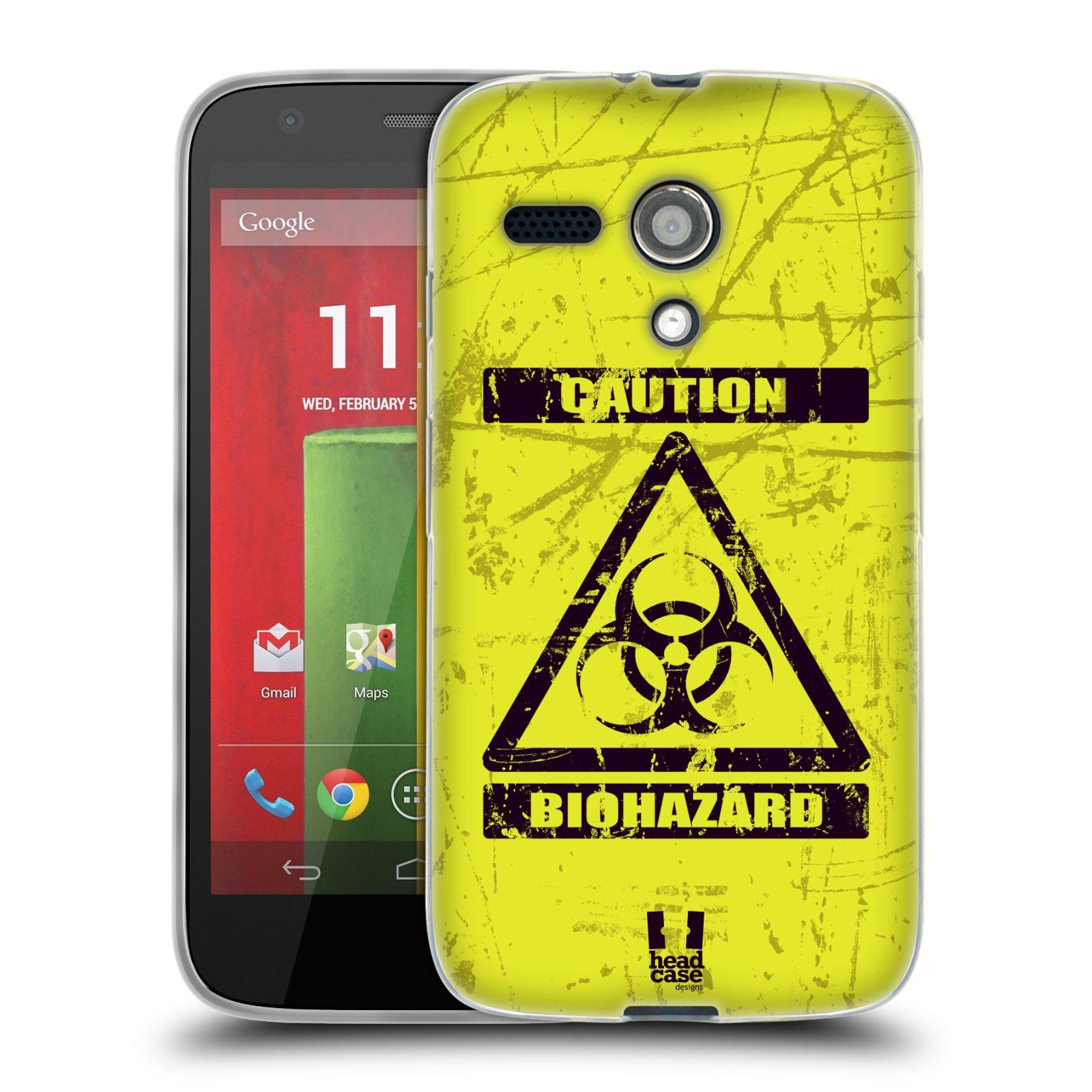 Silikonové pouzdro na mobil Motorola Moto G HEAD CASE BIOHAZARD (Silikonový kryt či obal na mobilní telefon Motorola Moto G)
