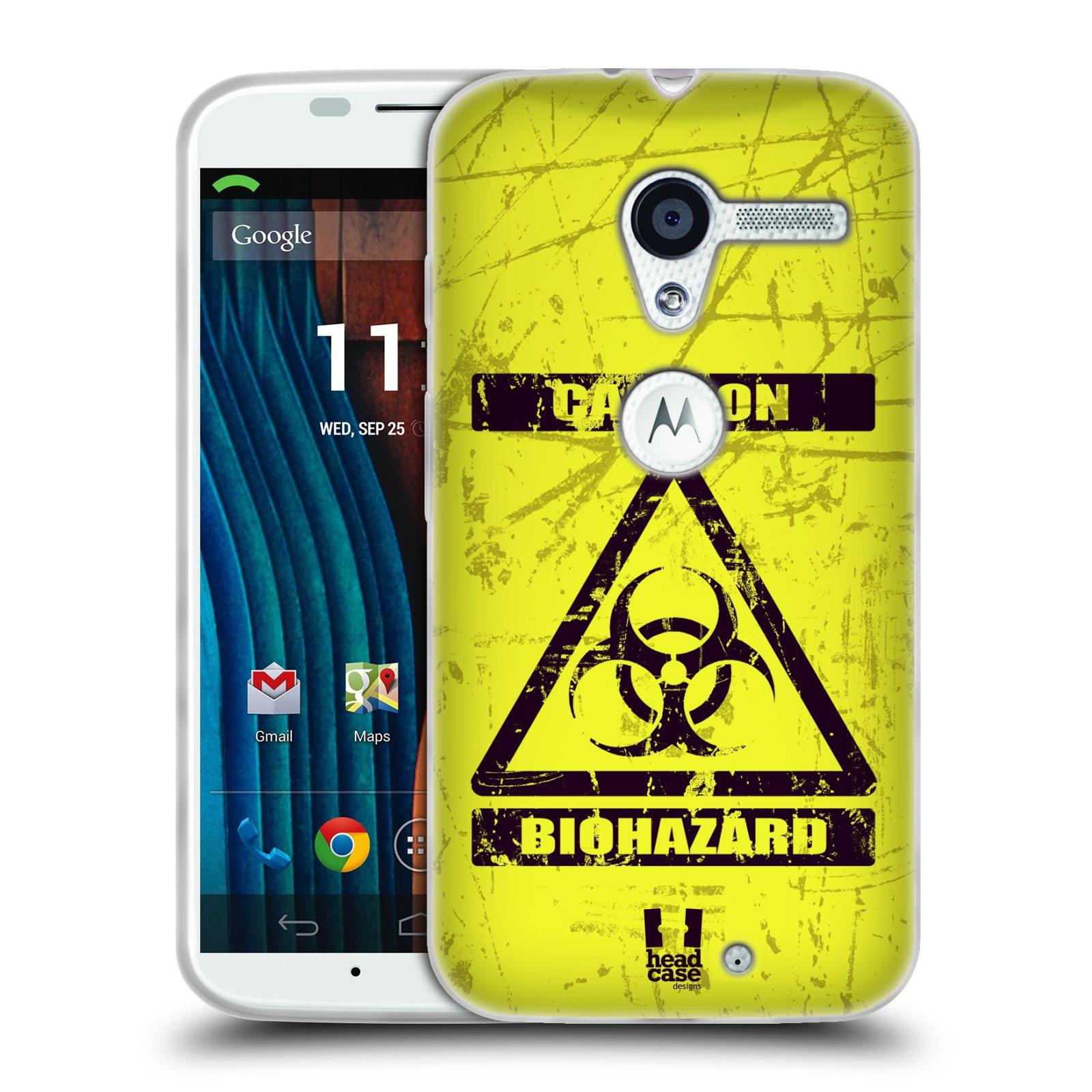 Silikonové pouzdro na mobil Motorola Moto X HEAD CASE BIOHAZARD (Silikonový kryt či obal na mobilní telefon Motorola Moto X)