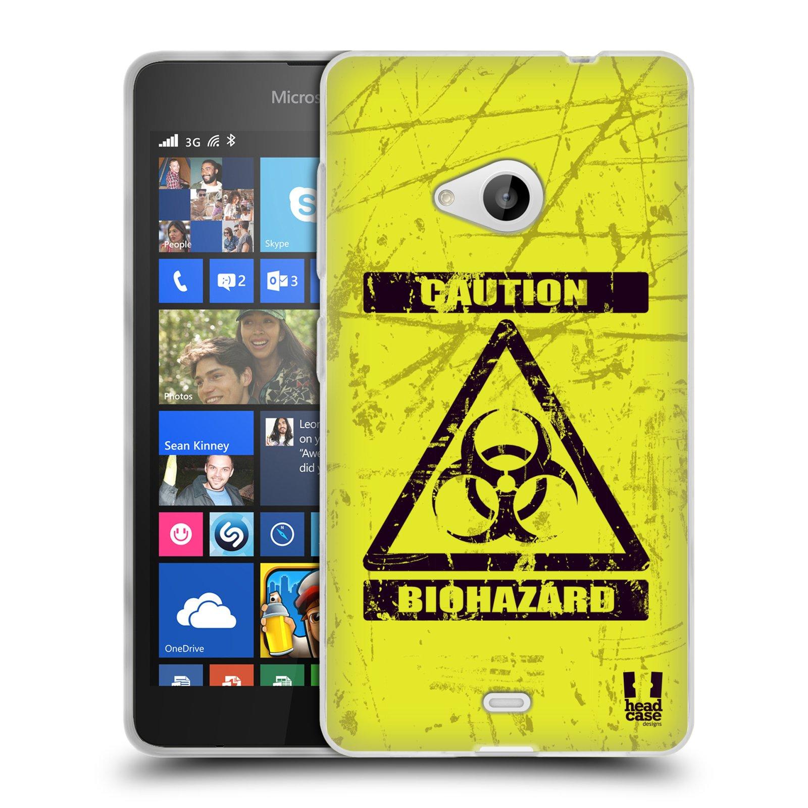 Silikonové pouzdro na mobil Microsoft Lumia 535 HEAD CASE BIOHAZARD (Silikonový kryt či obal na mobilní telefon Microsoft Lumia 535)