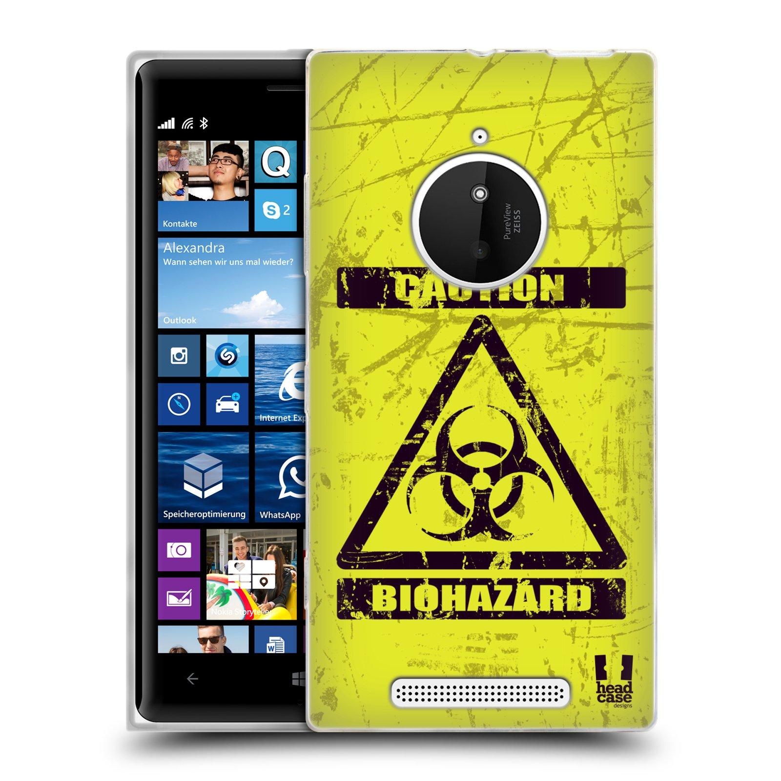 Silikonové pouzdro na mobil Nokia Lumia 830 HEAD CASE BIOHAZARD (Silikonový kryt či obal na mobilní telefon Nokia Lumia 830)