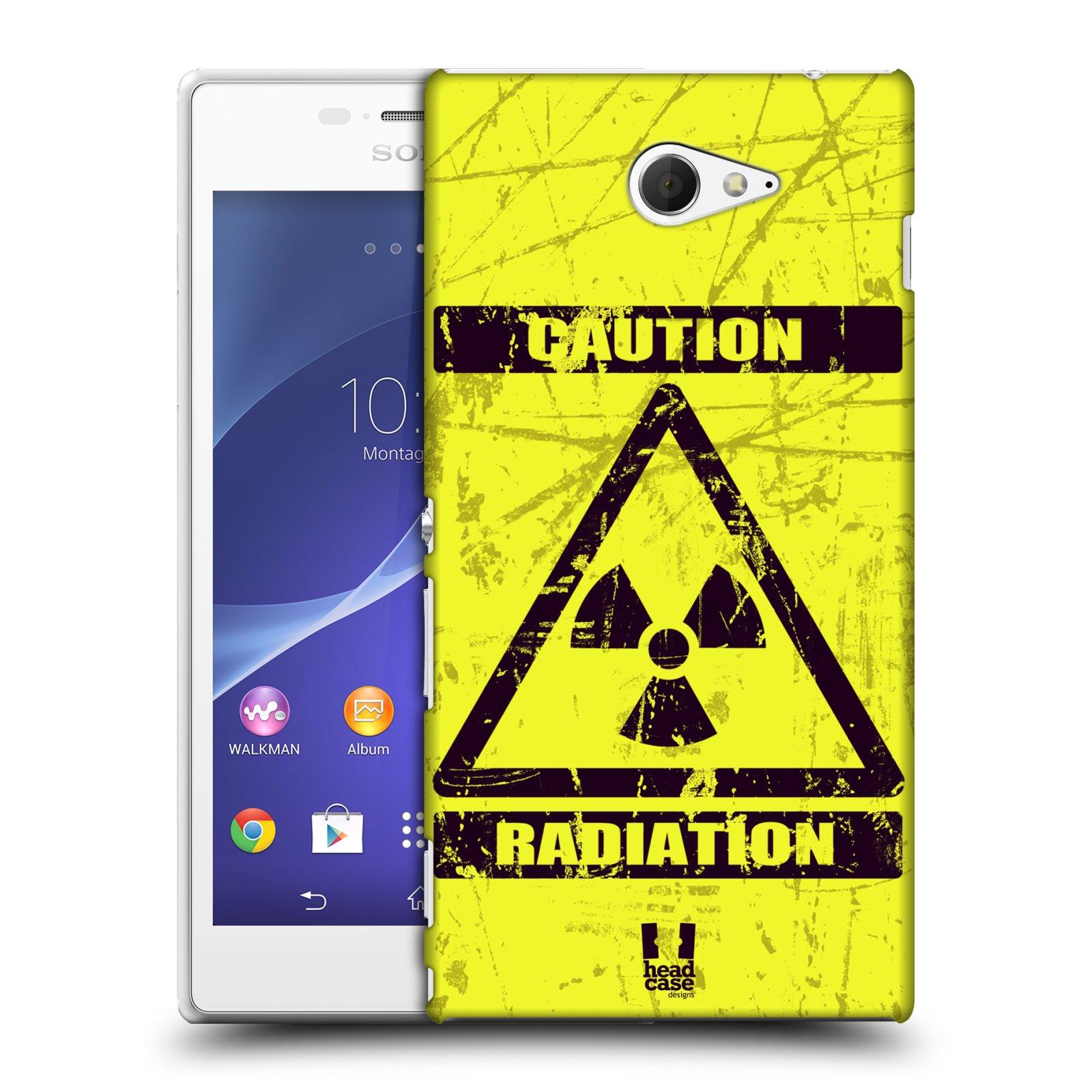 Plastové pouzdro na mobil Sony Xperia M2 D2303 HEAD CASE RADIACE (Kryt či obal na mobilní telefon Sony Xperia M2 )