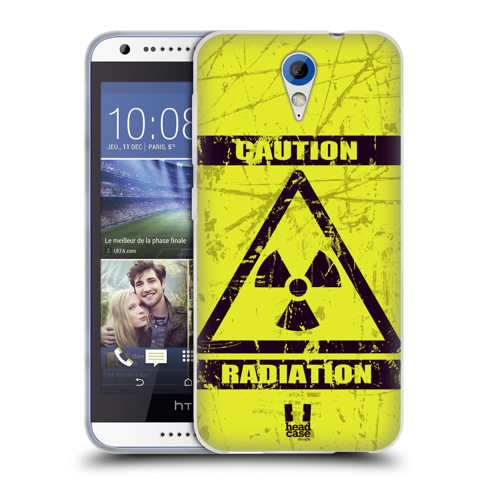 Silikonové pouzdro na mobil HTC Desire 620 HEAD CASE RADIACE (Silikonový kryt či obal na mobilní telefon HTC Desire 620)