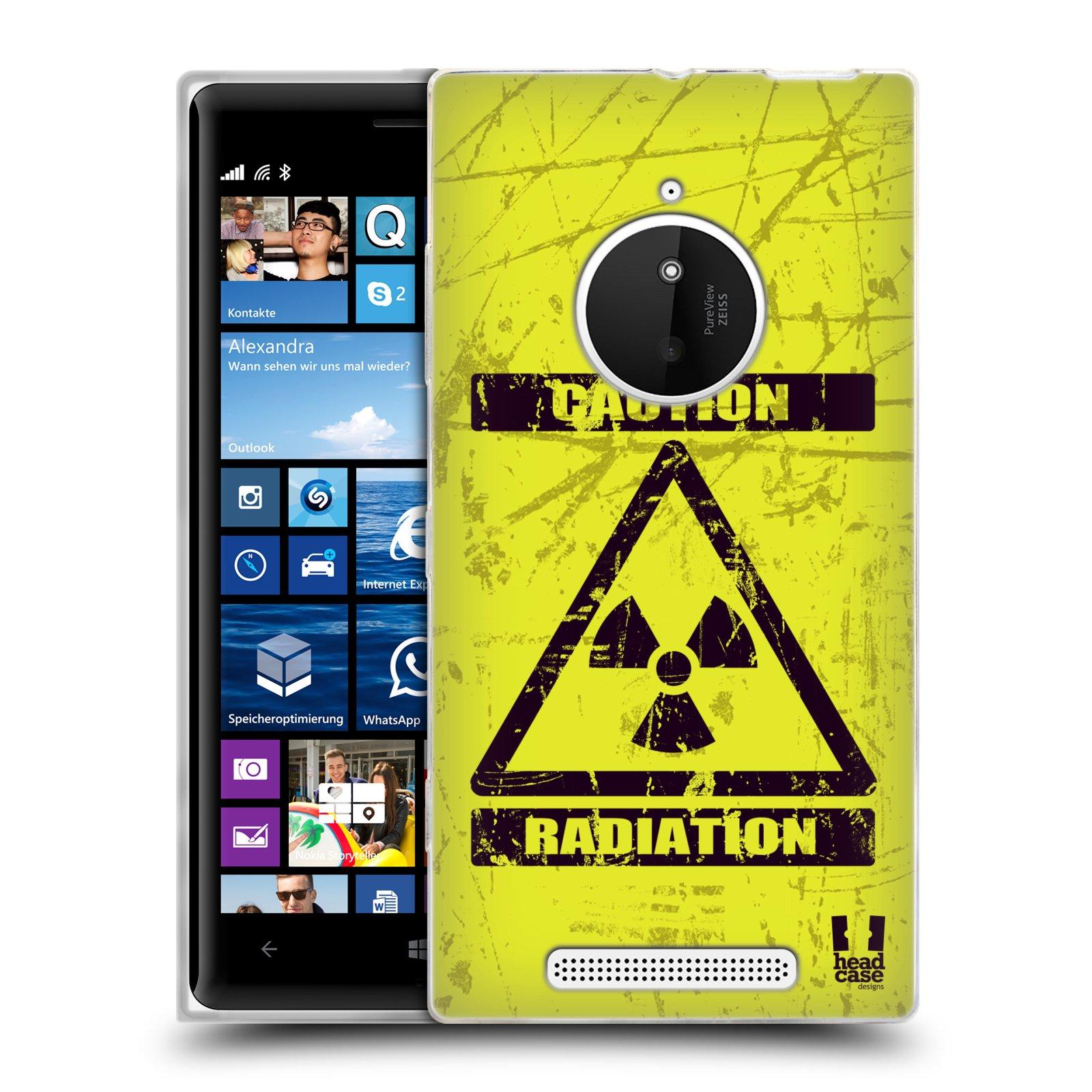 Silikonové pouzdro na mobil Nokia Lumia 830 HEAD CASE RADIACE (Silikonový kryt či obal na mobilní telefon Nokia Lumia 830)