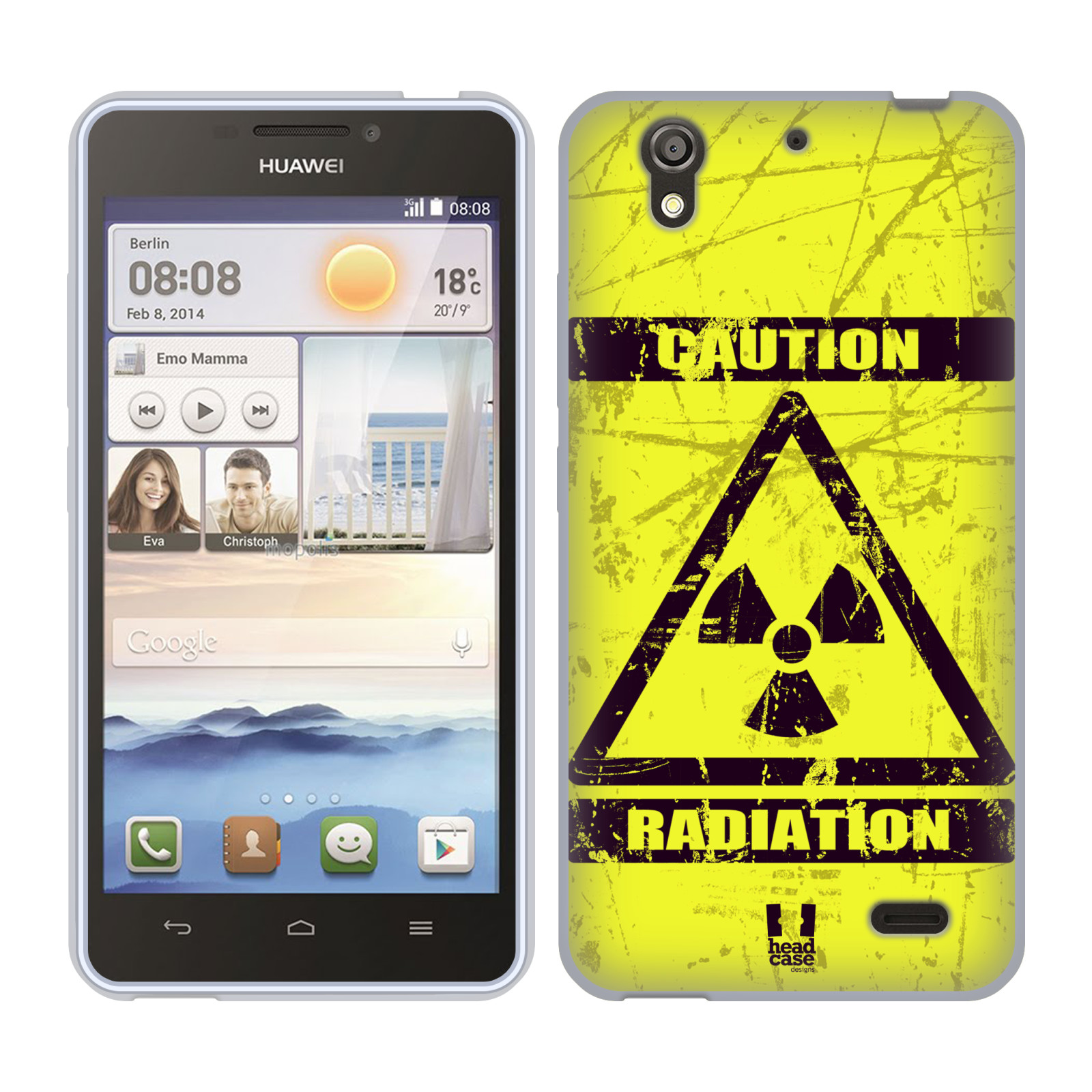 Silikonové pouzdro na mobil Huawei Ascend Y530 HEAD CASE RADIACE (Silikonový kryt či obal na mobilní telefon Huawei Ascend Y530)