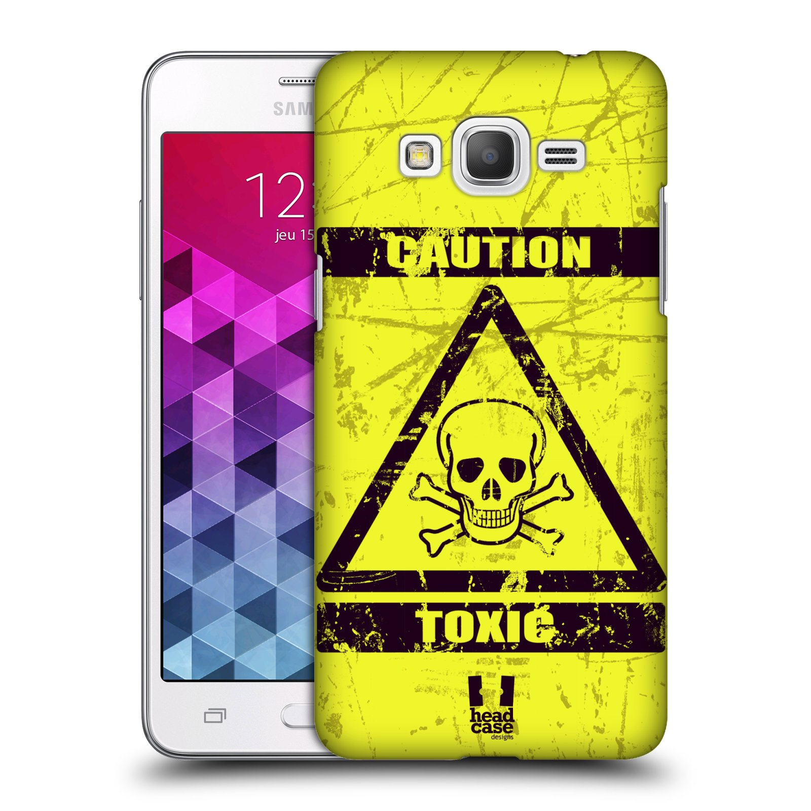 Plastové pouzdro na mobil Samsung Galaxy Grand Prime VE HEAD CASE TOXIC