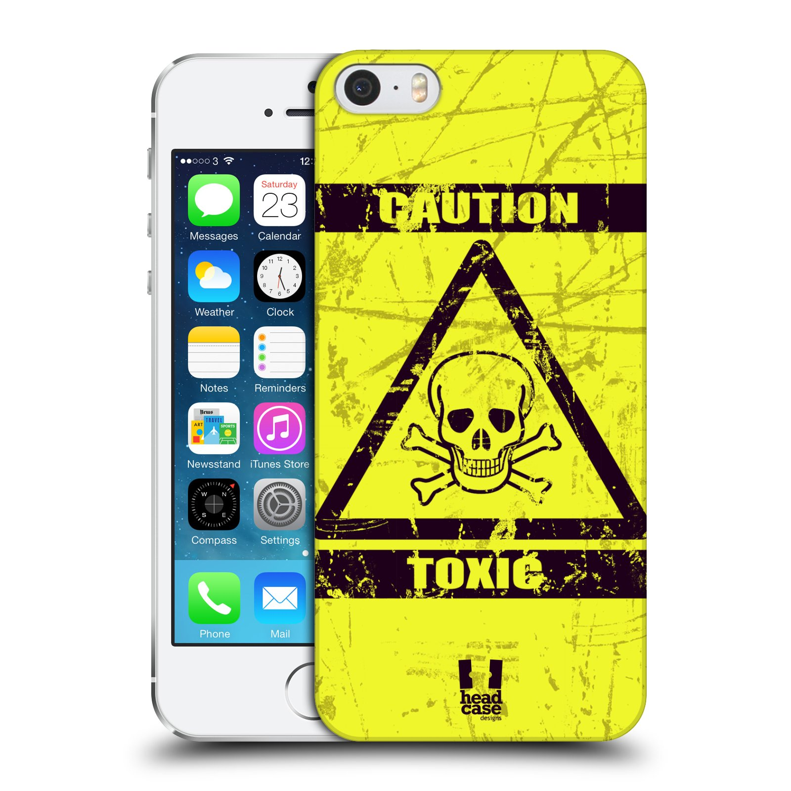 Plastové pouzdro na mobil Apple iPhone SE, 5 a 5S HEAD CASE TOXIC
