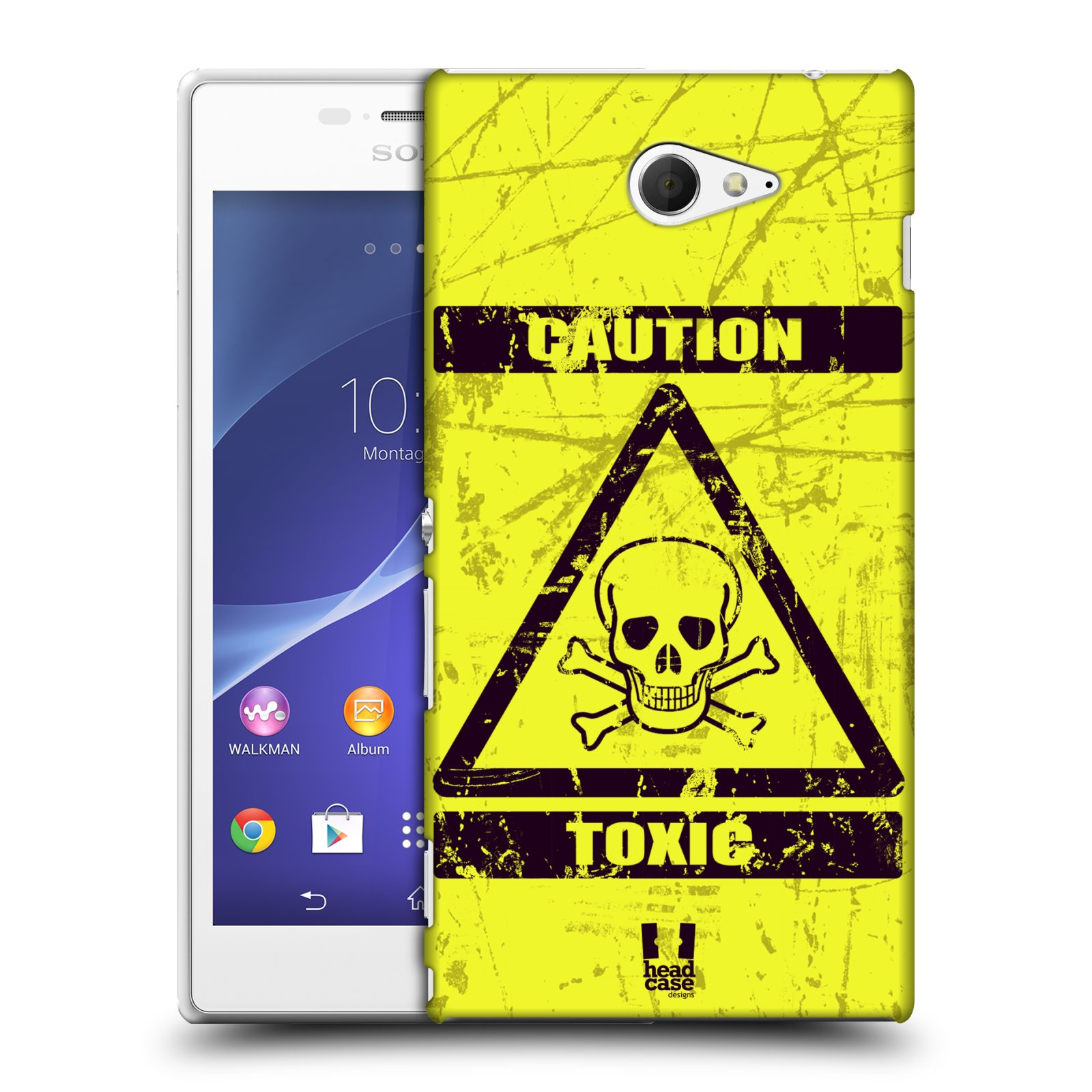 Plastové pouzdro na mobil Sony Xperia M2 D2303 HEAD CASE TOXIC (Kryt či obal na mobilní telefon Sony Xperia M2 )