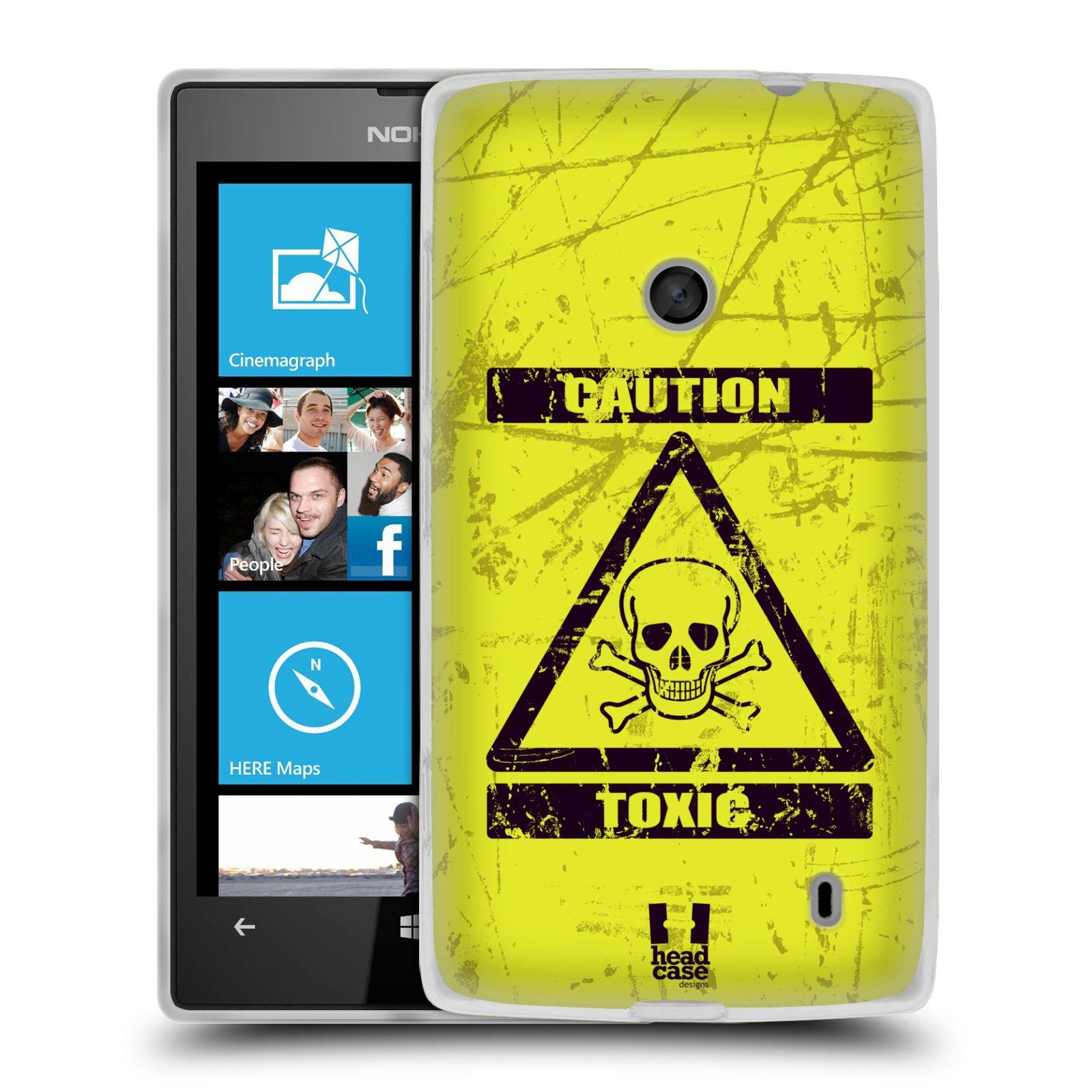 Silikonové pouzdro na mobil Nokia Lumia 520 HEAD CASE TOXIC (Silikonový Kryt či obal na mobilní telefon Nokia Lumia 520)