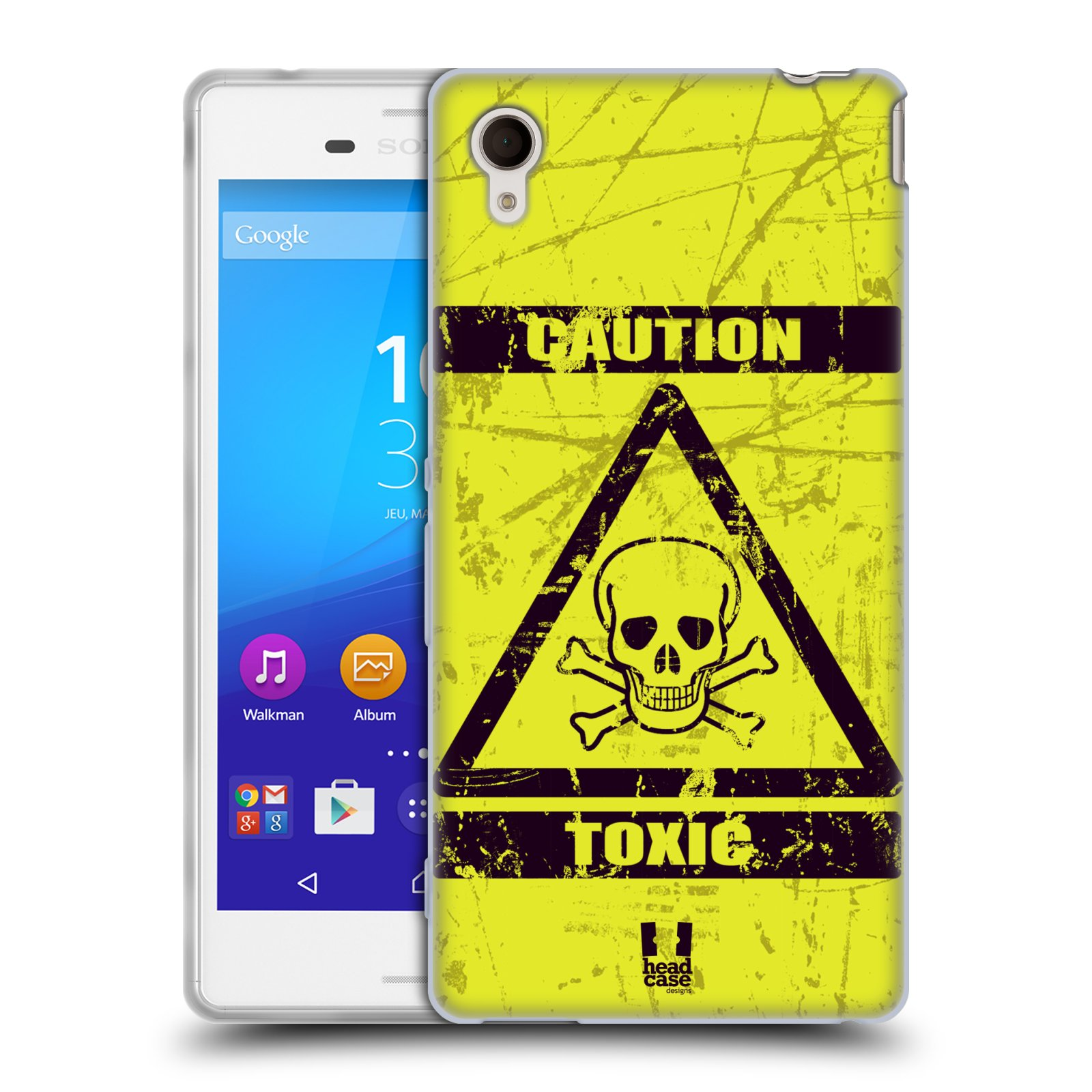 Silikonové pouzdro na mobil Sony Xperia M4 Aqua E2303 HEAD CASE TOXIC (Silikonový kryt či obal na mobilní telefon Sony Xperia M4 Aqua a M4 Aqua Dual SIM)