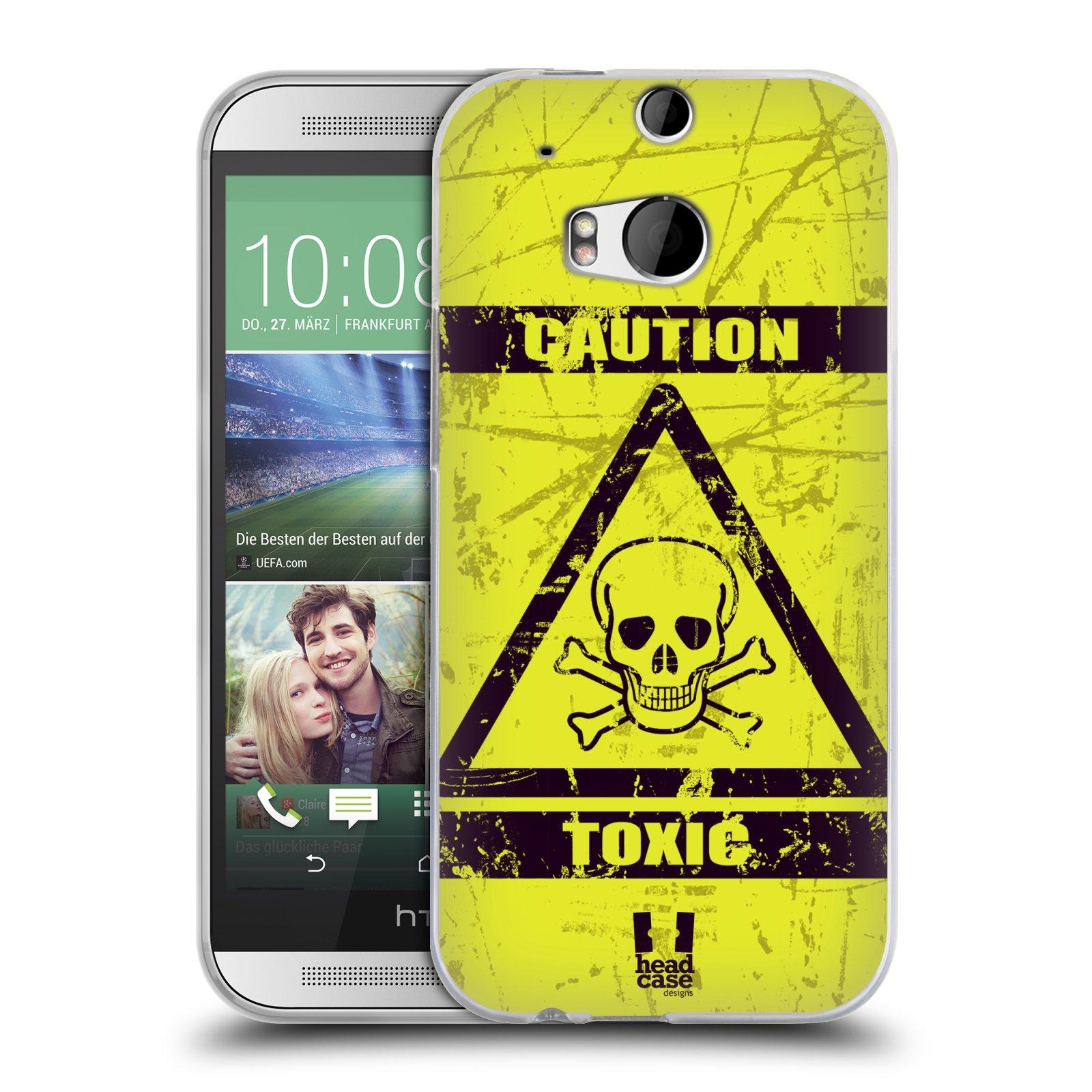 Silikonové pouzdro na mobil HTC ONE M8 HEAD CASE TOXIC (Silikonový kryt či obal na mobilní telefon HTC ONE M8)