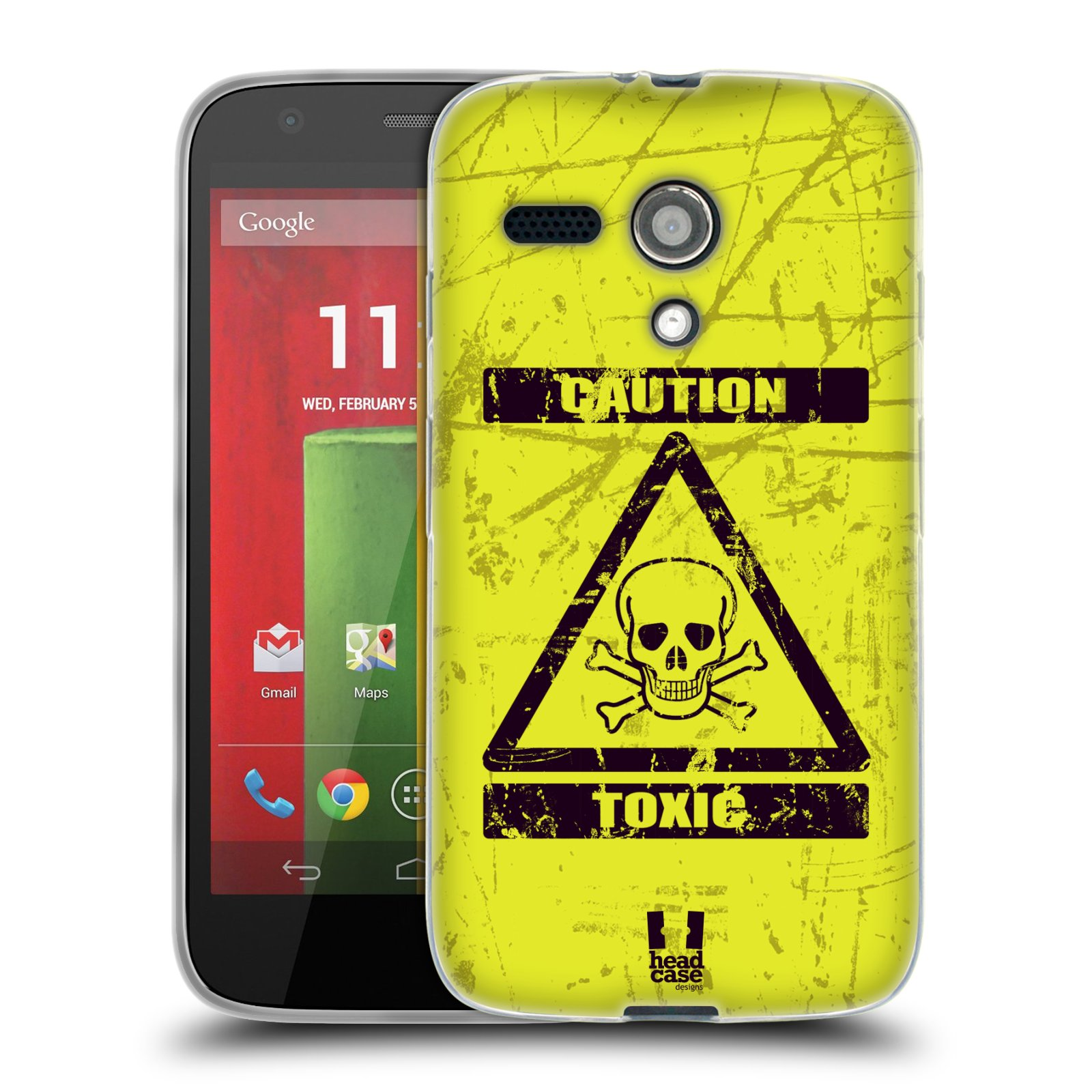 Silikonové pouzdro na mobil Motorola Moto G HEAD CASE TOXIC (Silikonový kryt či obal na mobilní telefon Motorola Moto G)