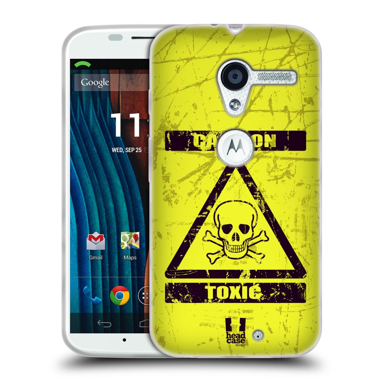 Silikonové pouzdro na mobil Motorola Moto X HEAD CASE TOXIC (Silikonový kryt či obal na mobilní telefon Motorola Moto X)
