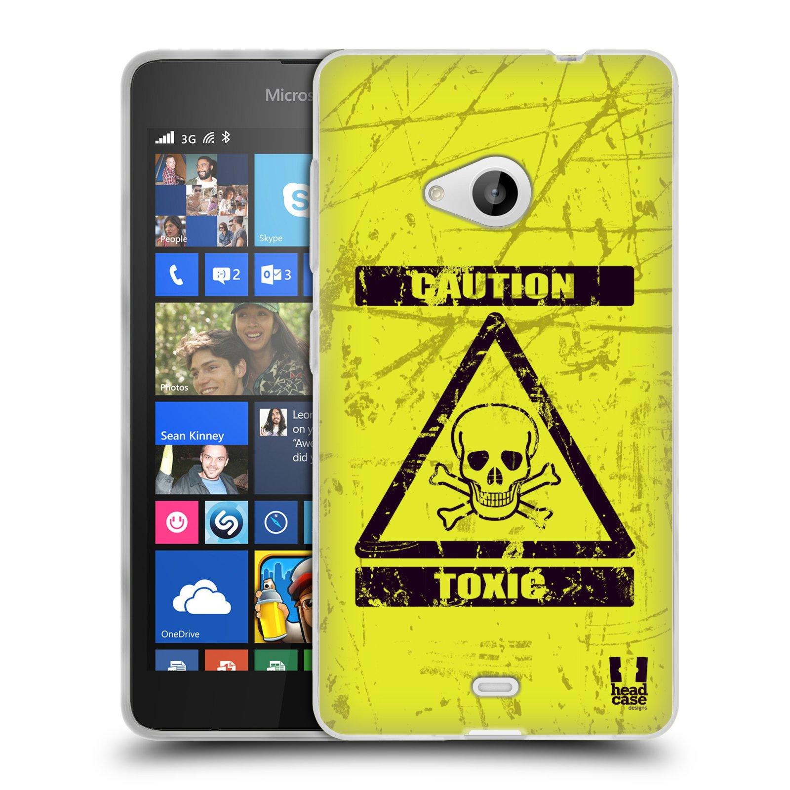 Silikonové pouzdro na mobil Microsoft Lumia 535 HEAD CASE TOXIC (Silikonový kryt či obal na mobilní telefon Microsoft Lumia 535)
