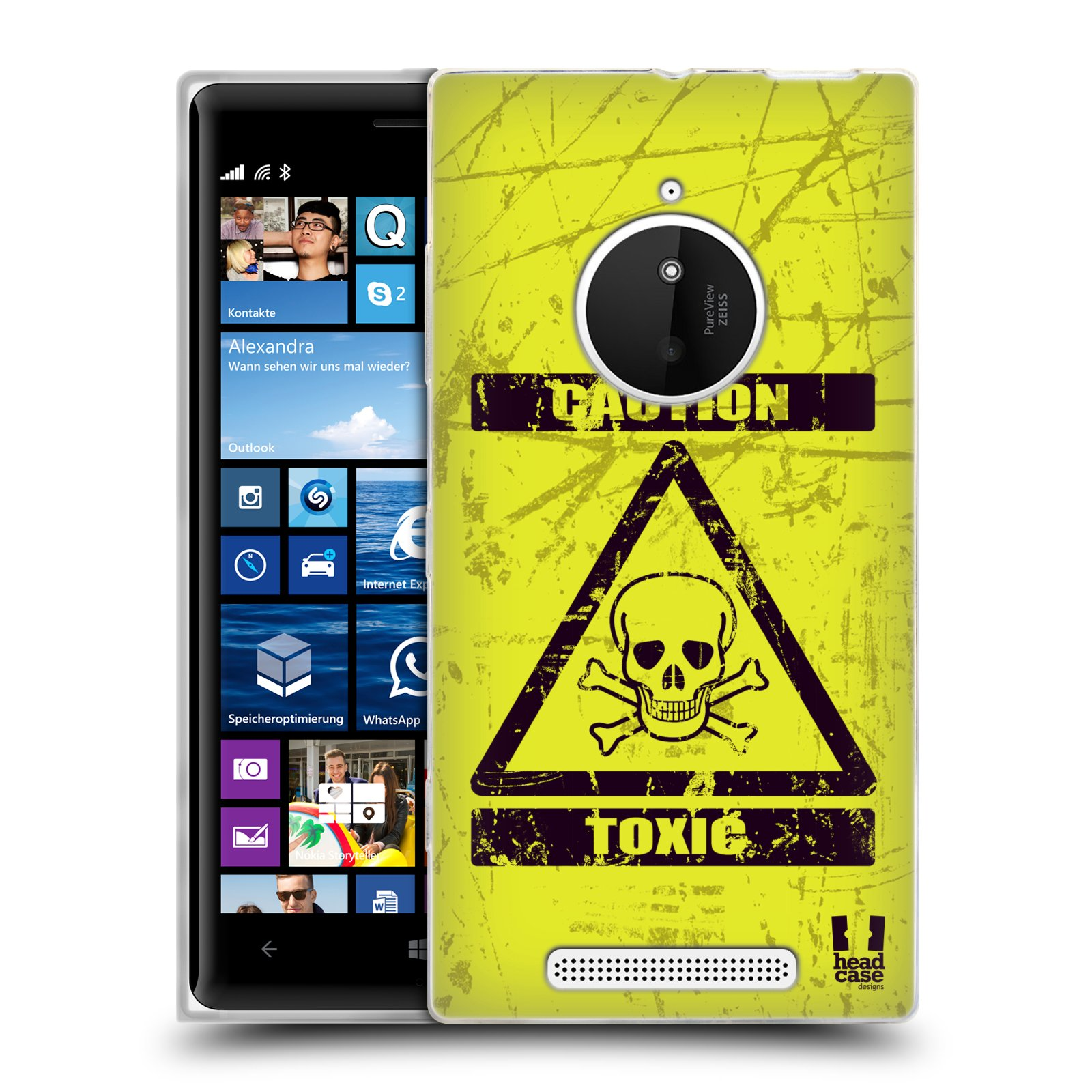 Silikonové pouzdro na mobil Nokia Lumia 830 HEAD CASE TOXIC (Silikonový kryt či obal na mobilní telefon Nokia Lumia 830)