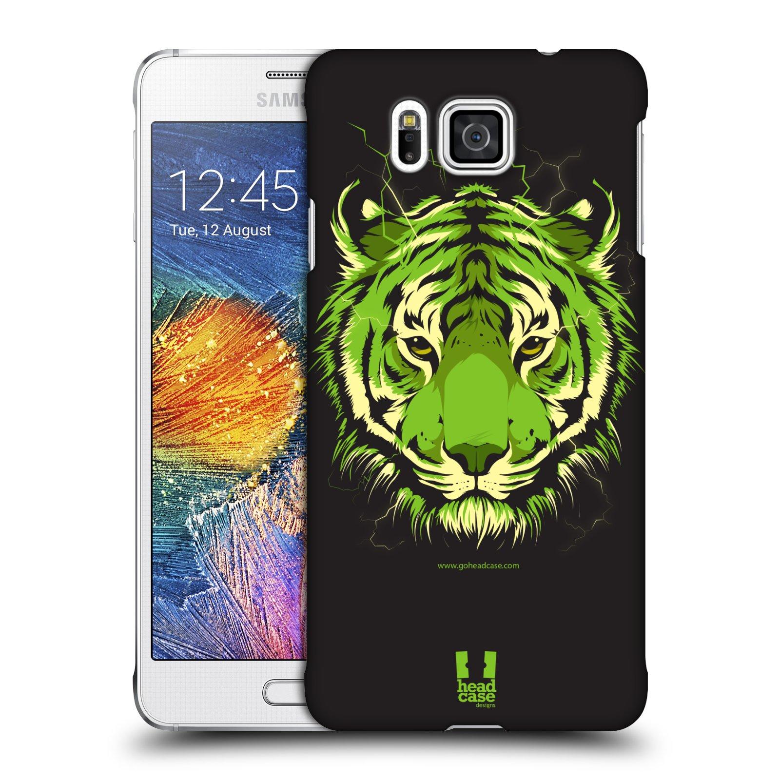 Plastové pouzdro na mobil Samsung Galaxy Alpha HEAD CASE BENGÁLSKÝ TYGR (Kryt či obal na mobilní telefon Samsung Galaxy Alpha SM-G850)
