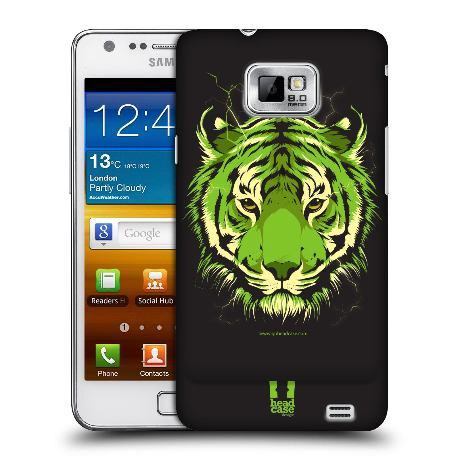 Plastové pouzdro na mobil Samsung Galaxy S II HEAD CASE BENGÁLSKÝ TYGR (Kryt či obal na mobilní telefon Samsung Galaxy S II GT-i9100)