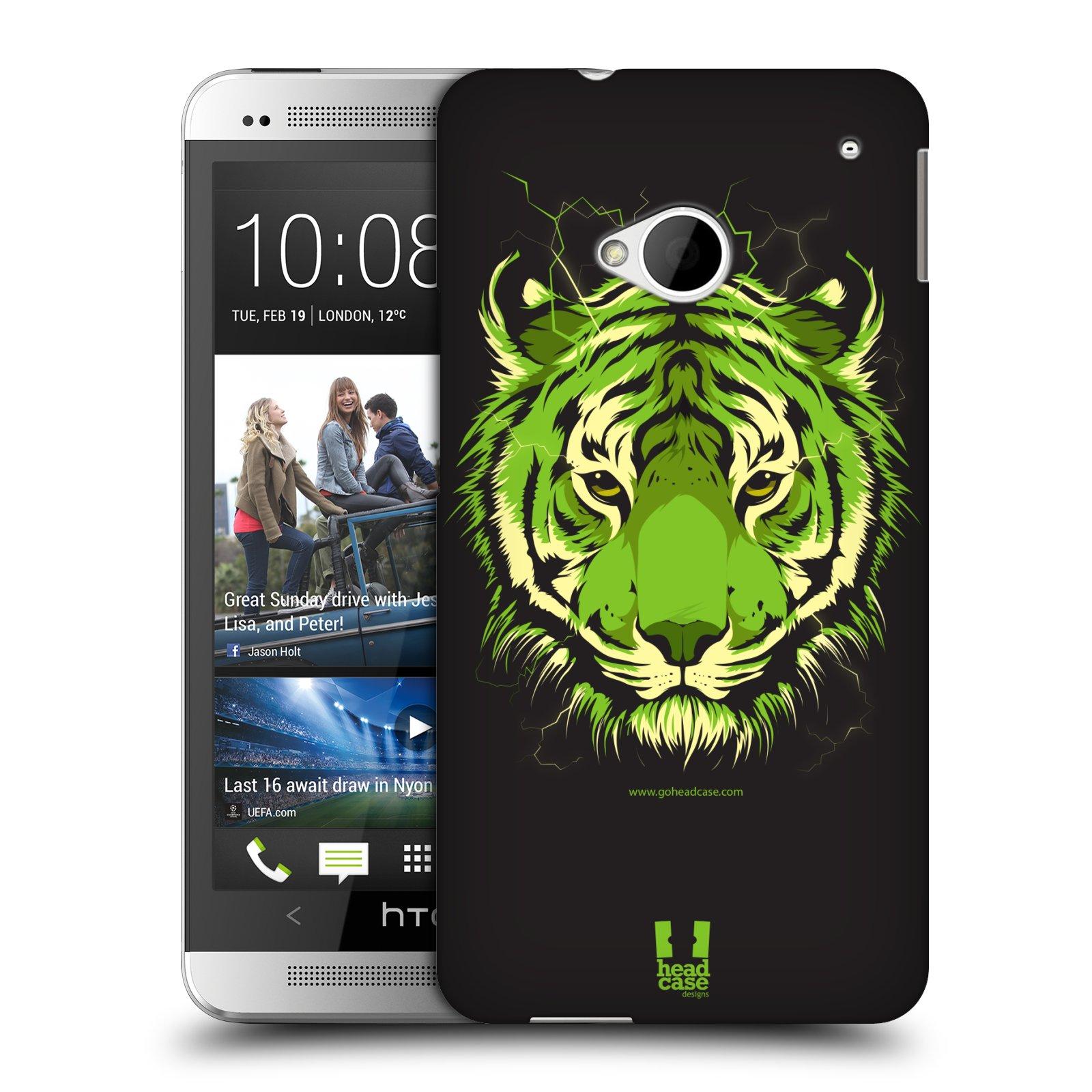 Plastové pouzdro na mobil HTC ONE M7 HEAD CASE BENGÁLSKÝ TYGR (Kryt či obal na mobilní telefon HTC ONE M7)
