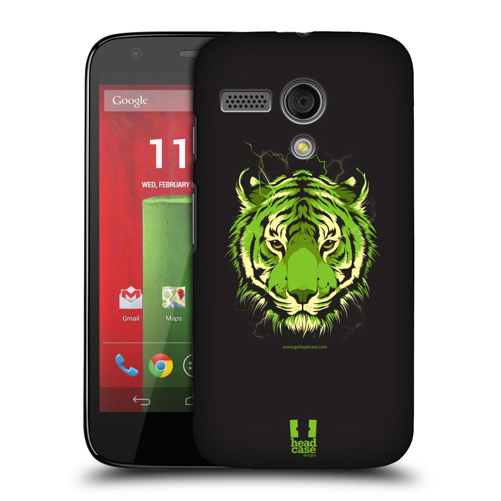 Plastové pouzdro na mobil Motorola Moto G HEAD CASE BENGÁLSKÝ TYGR (Kryt či obal na mobilní telefon Motorola Moto G)